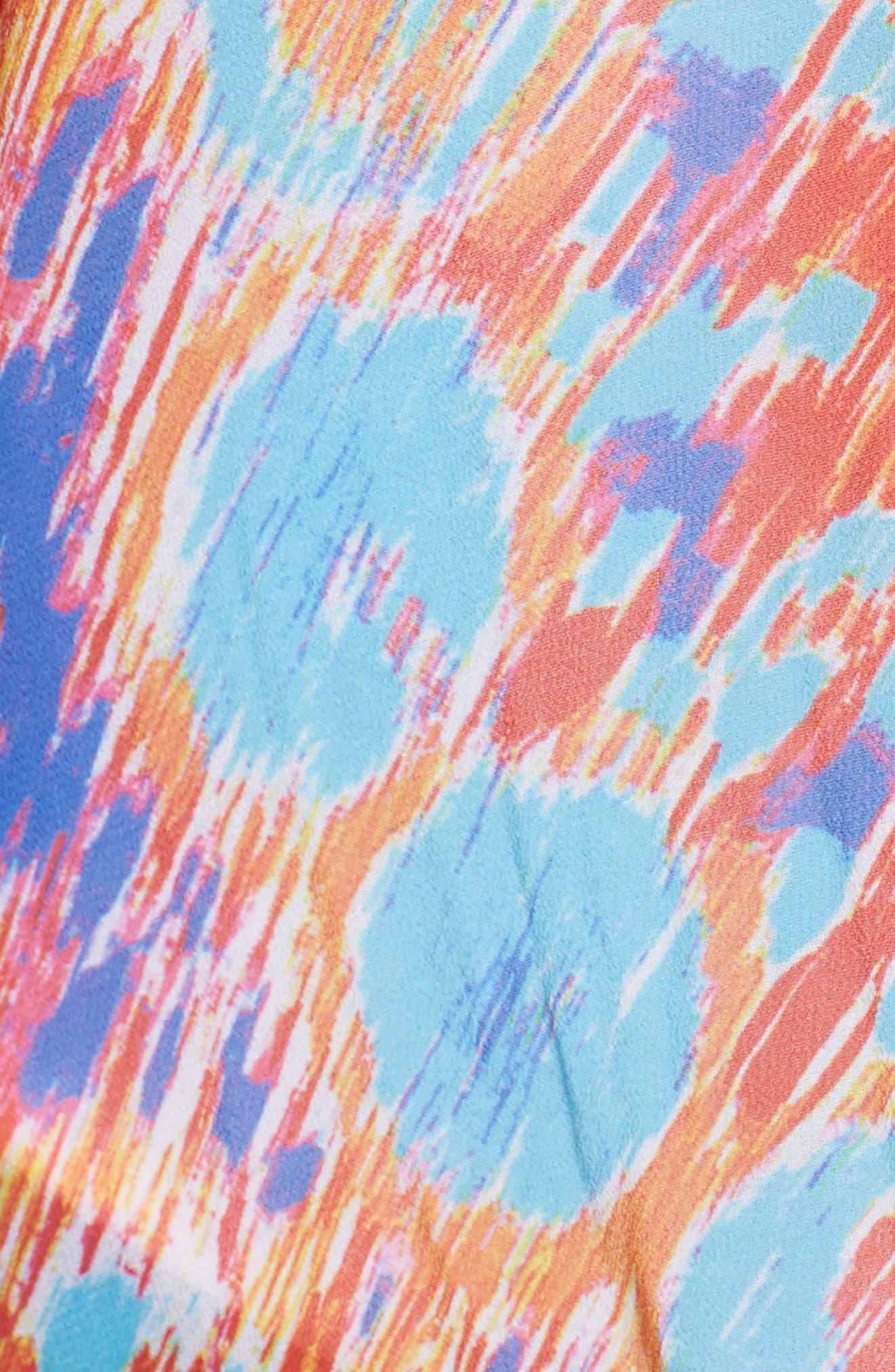 Hamptons Short Kaftan,                             Alternate thumbnail 5, color,                             MULTI COLOR