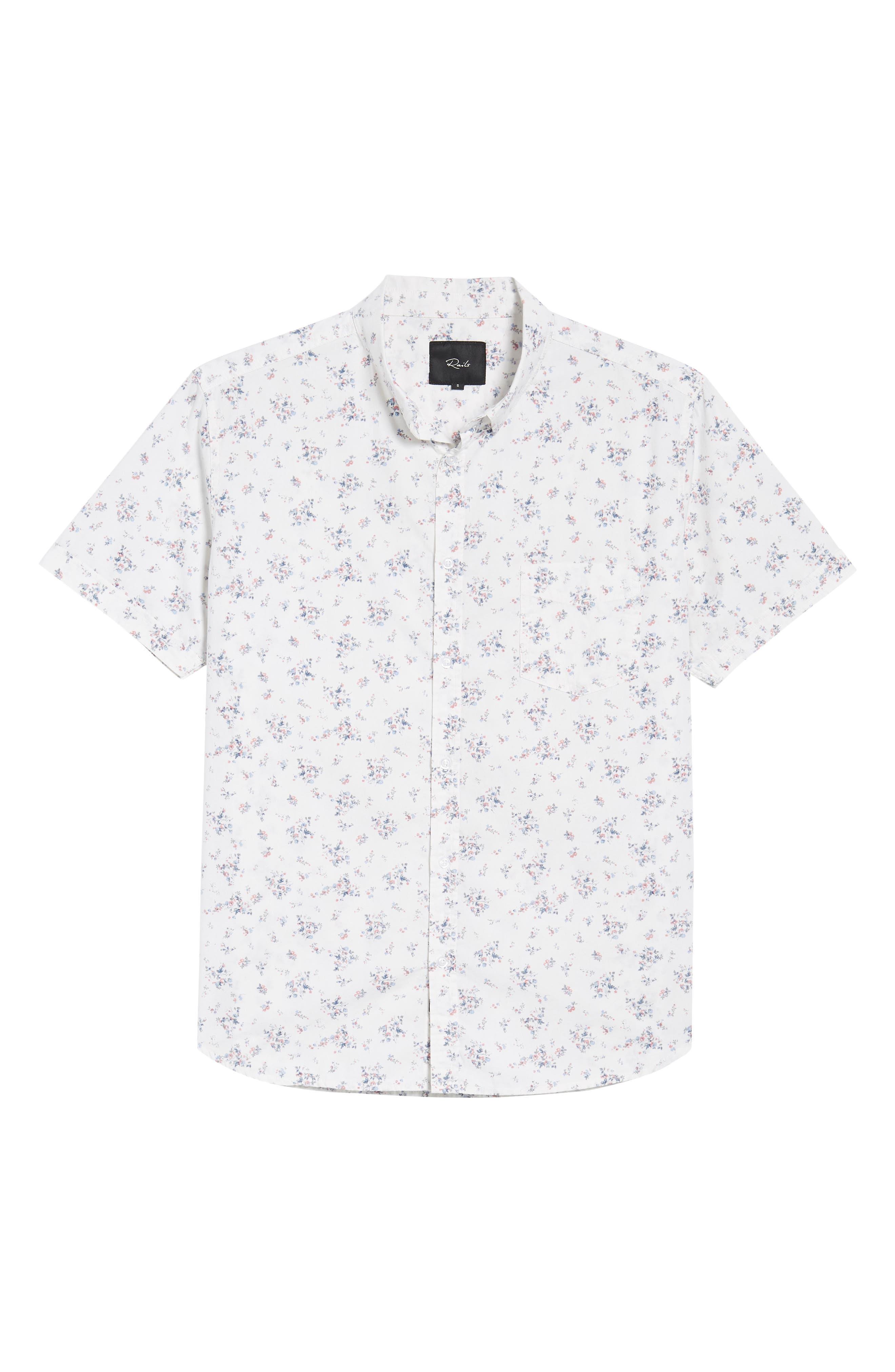 Carson Slim Fit Floral Print Sport Shirt,                             Alternate thumbnail 6, color,                             100
