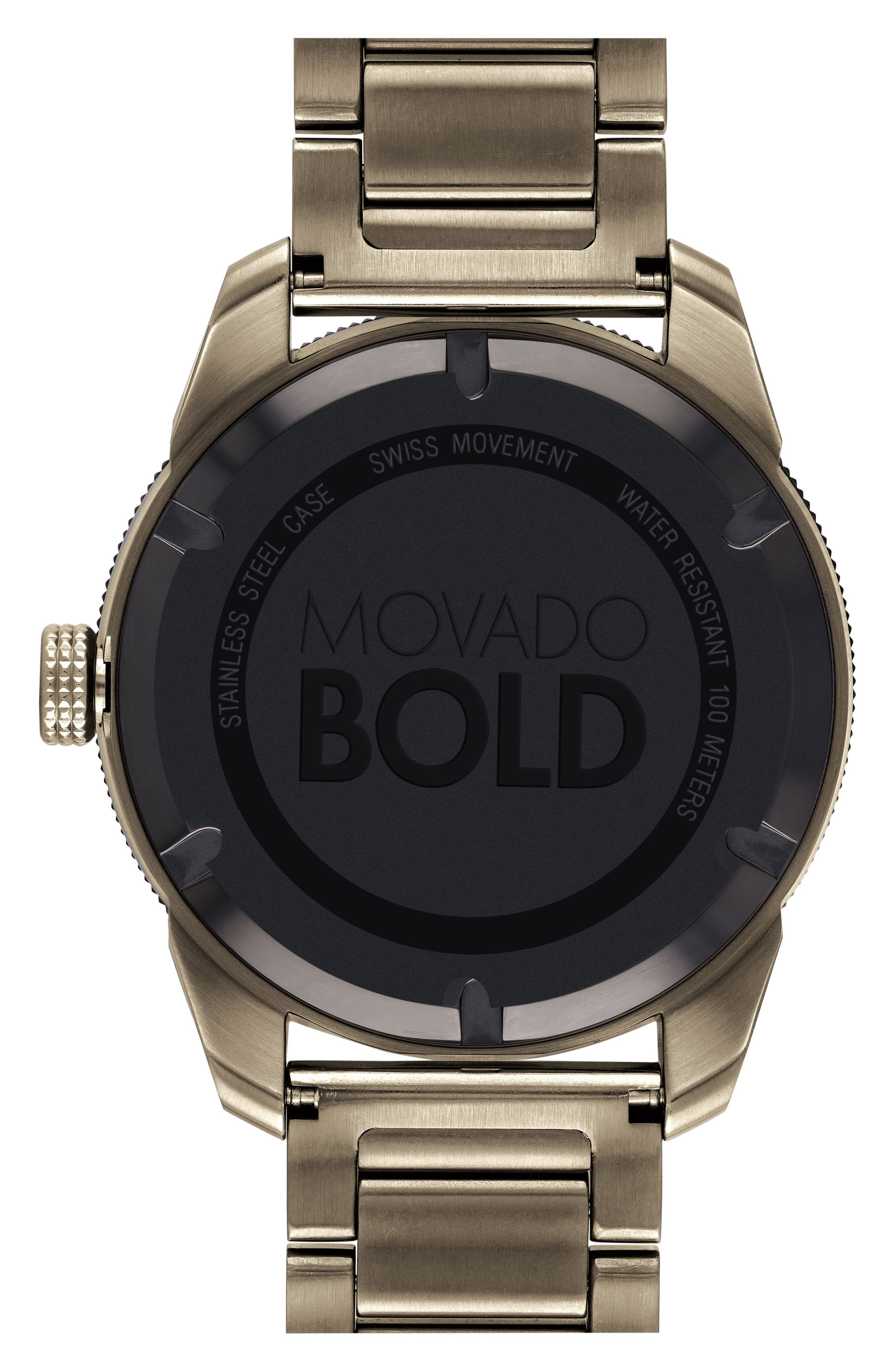 Bold Bracelet Watch, 43.5mm,                             Alternate thumbnail 2, color,                             KHAKI/ BLACK