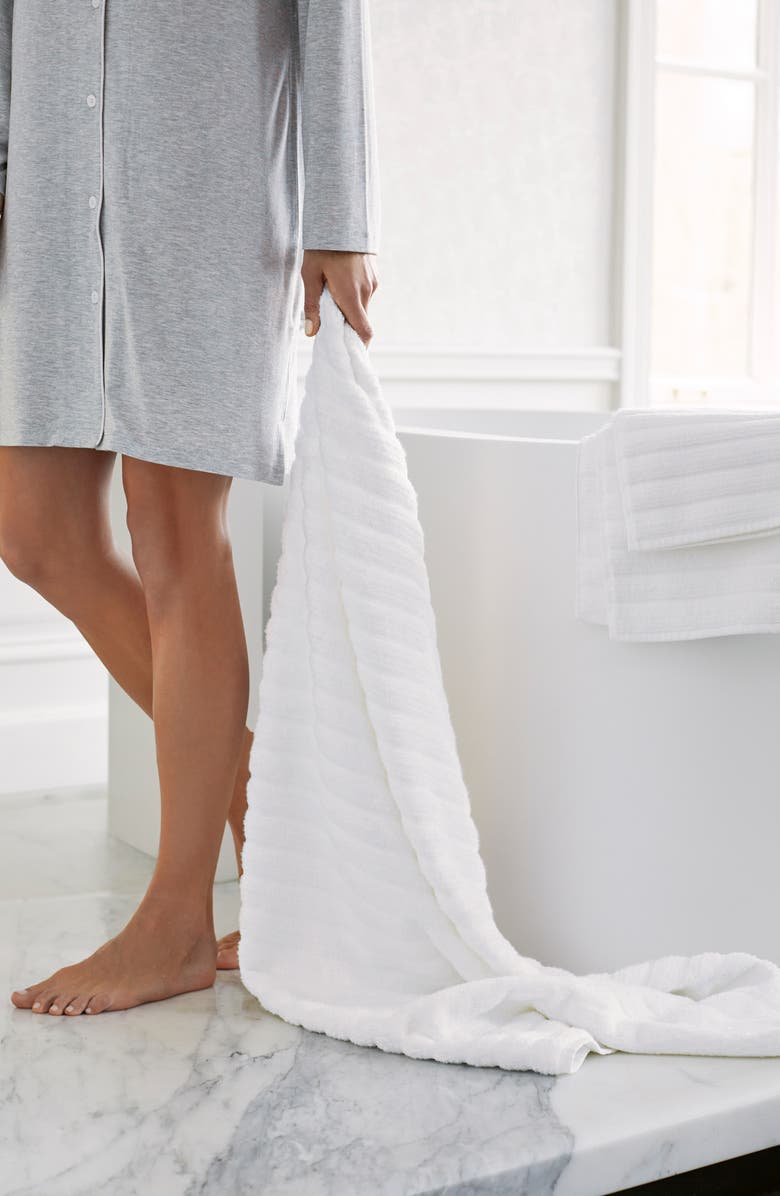 The White Company Ribbed Hydrocotton Square Bath Mat | Nordstrom