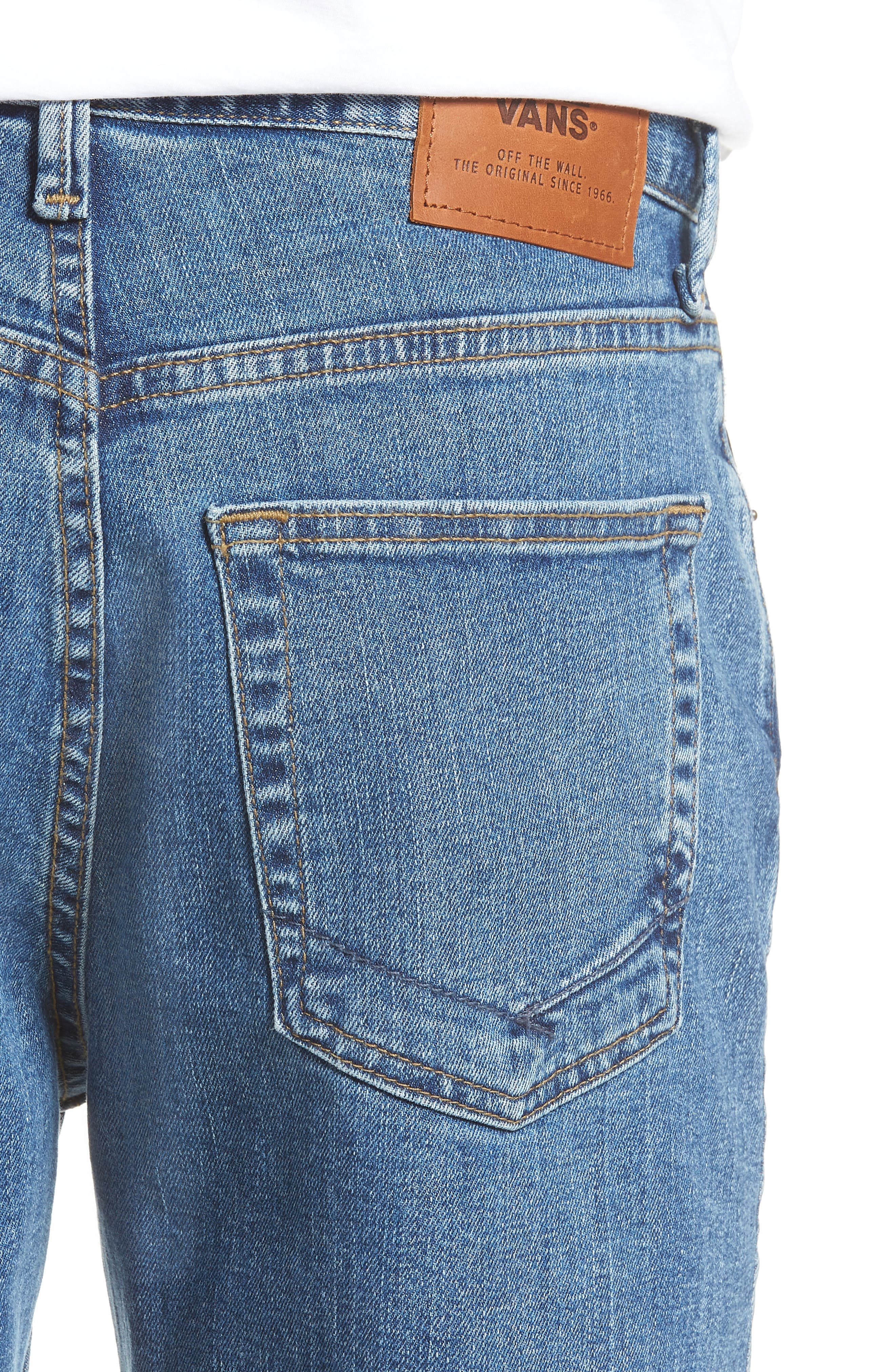 V96 Relaxed Fit Jeans,                             Alternate thumbnail 4, color,                             STONE WASH