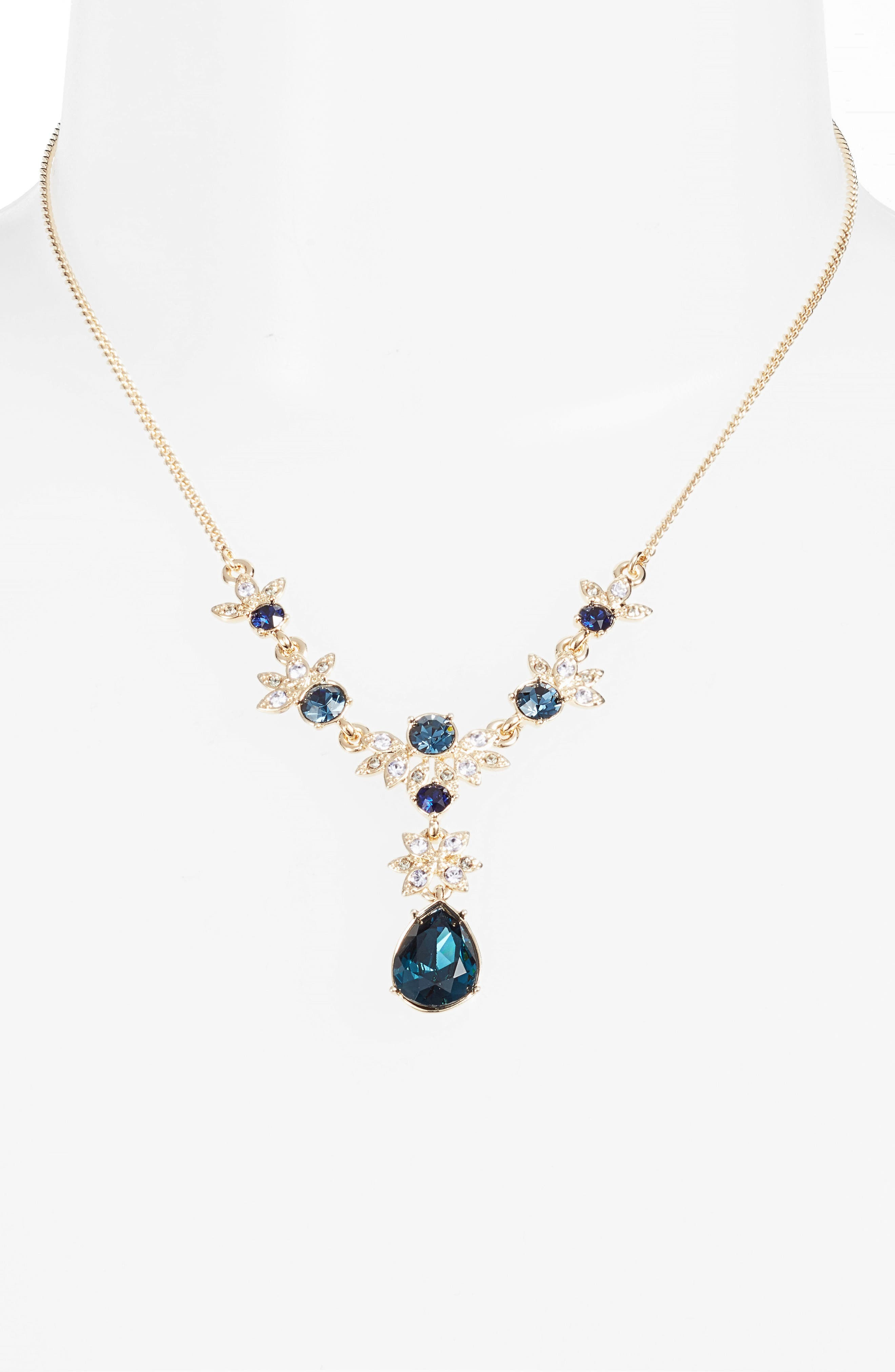 Crystal Y-Necklace,                             Alternate thumbnail 4, color,