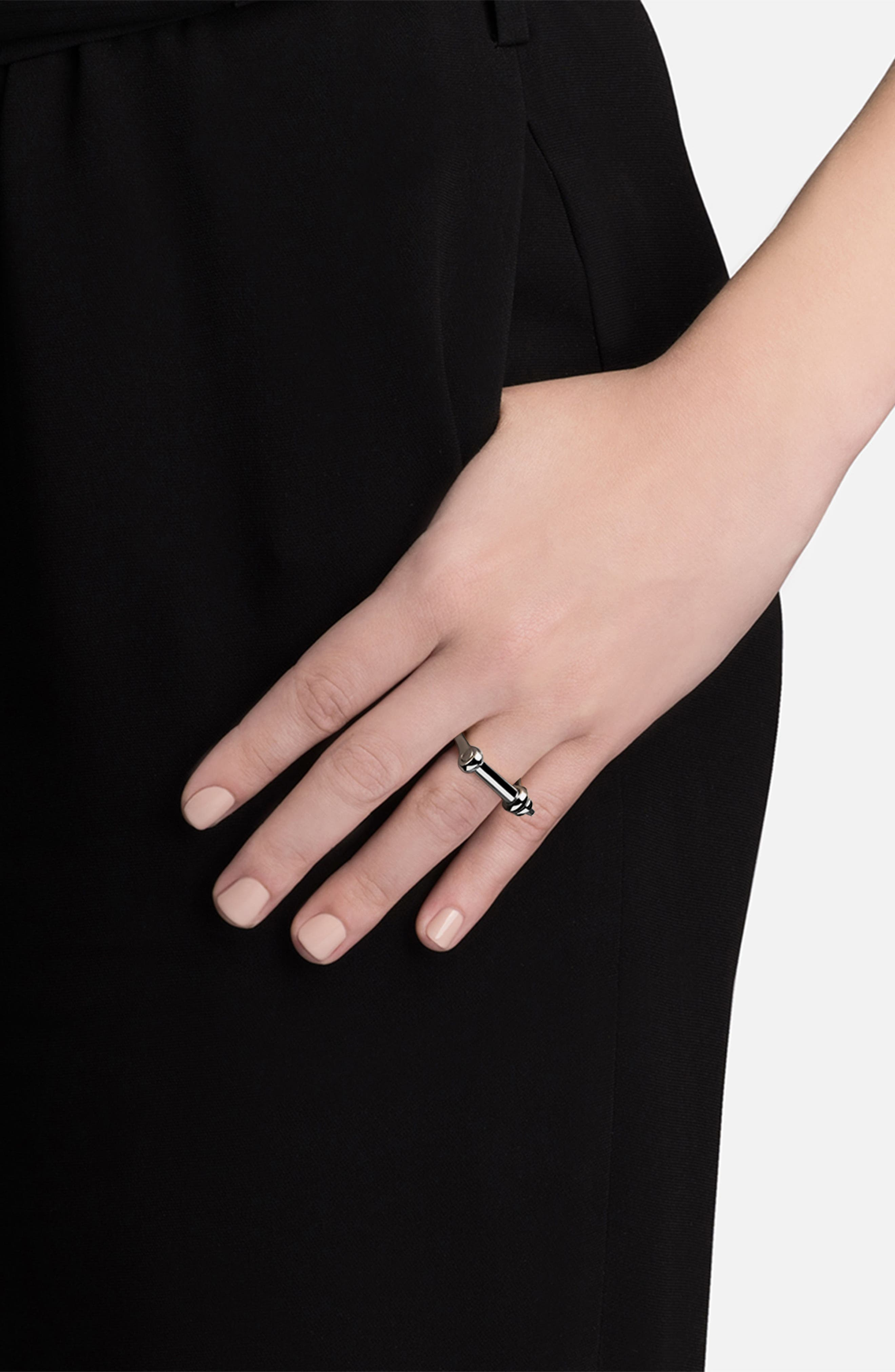Thin Screw Cuff Ring,                             Alternate thumbnail 2, color,                             040