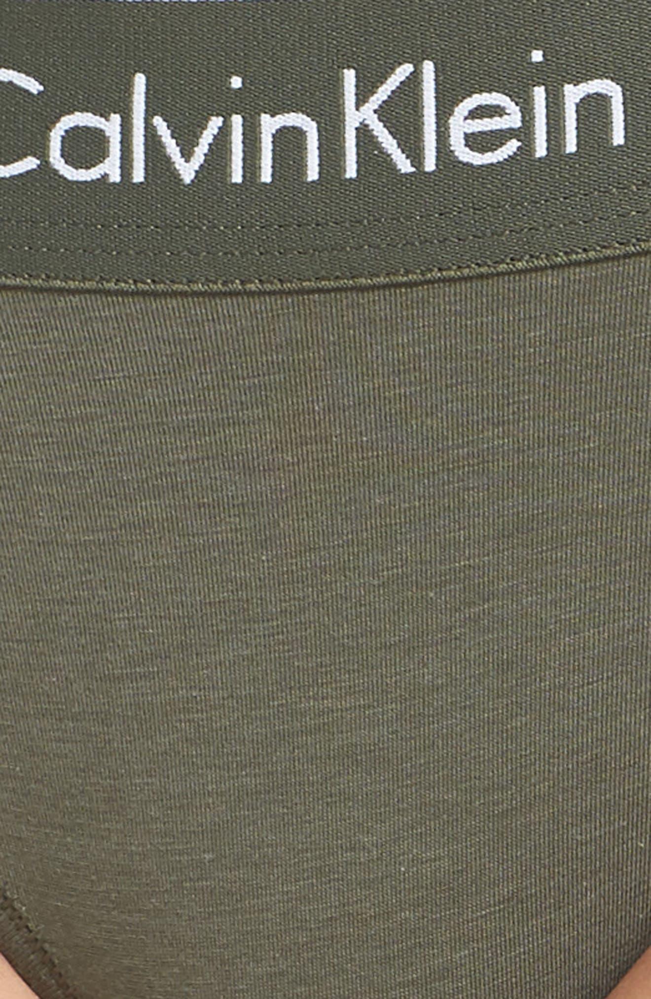 'Modern Cotton Collection' Cotton Blend Bikini,                             Alternate thumbnail 6, color,                             BEETLE
