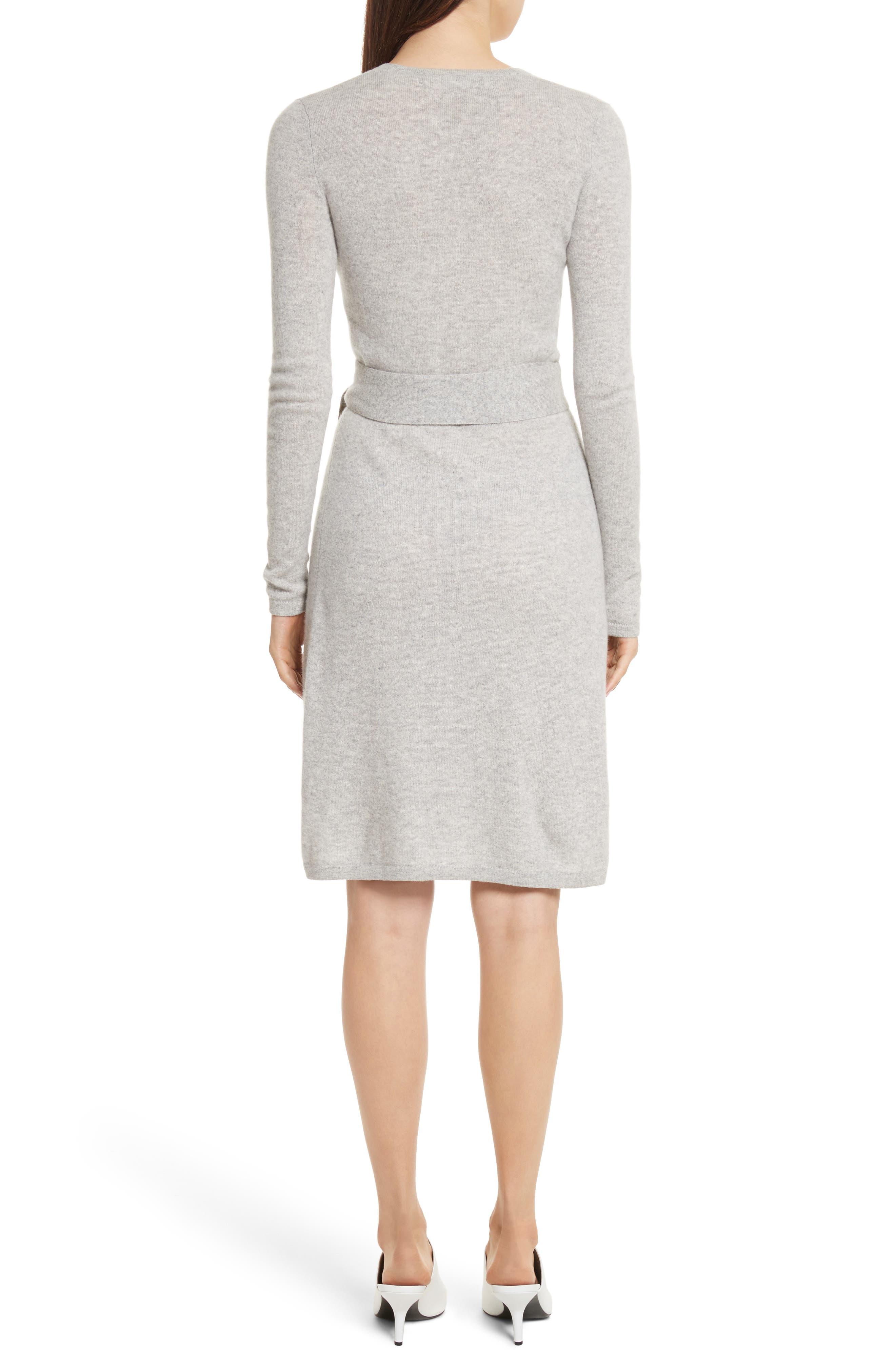 Diane Von Furstenberg Linda Cashmere Wrap Dress,                             Alternate thumbnail 4, color,