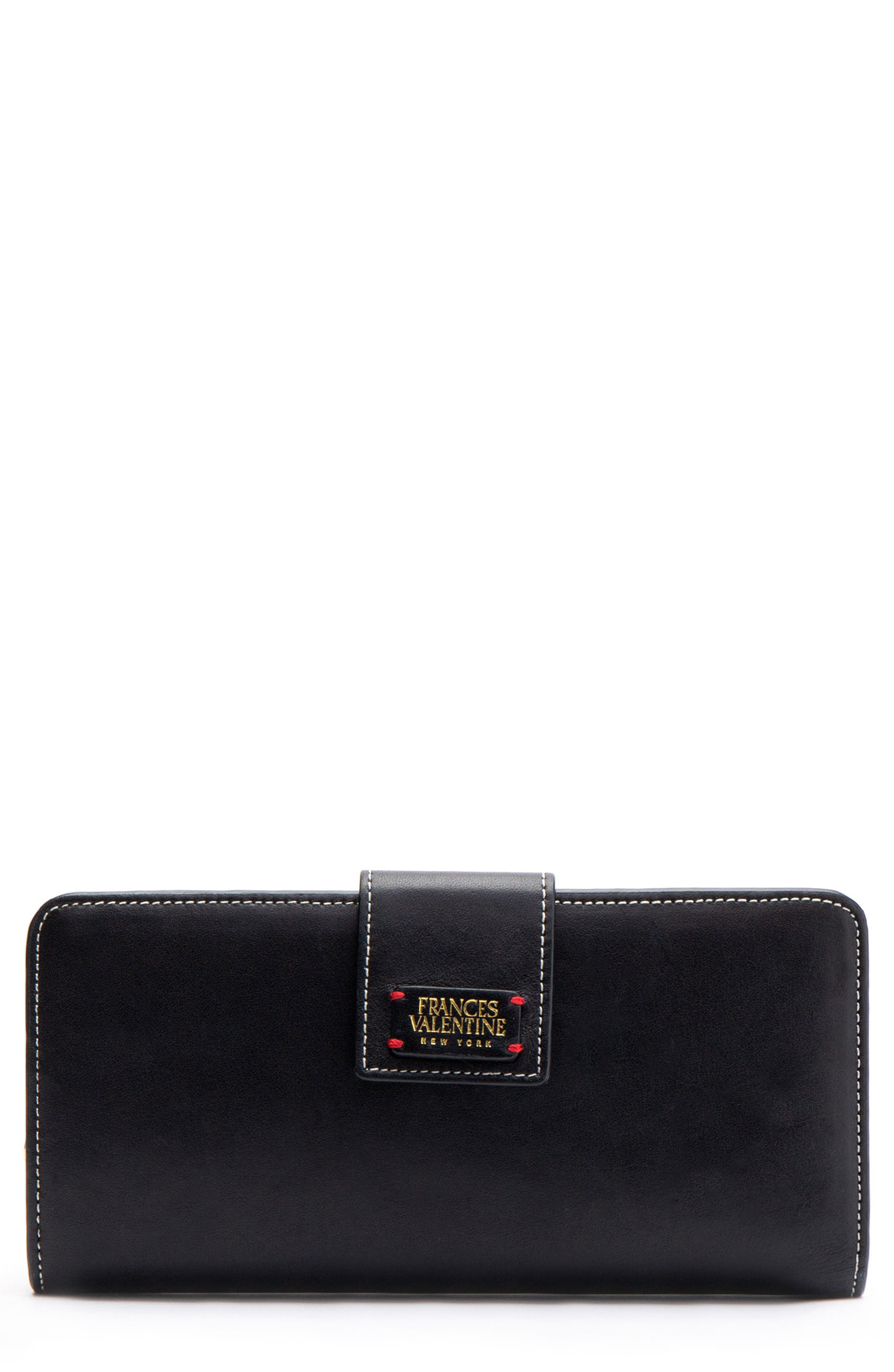 Jefferson Slim Calfskin Leather Wallet,                             Main thumbnail 1, color,                             BLACK/ OYSTER