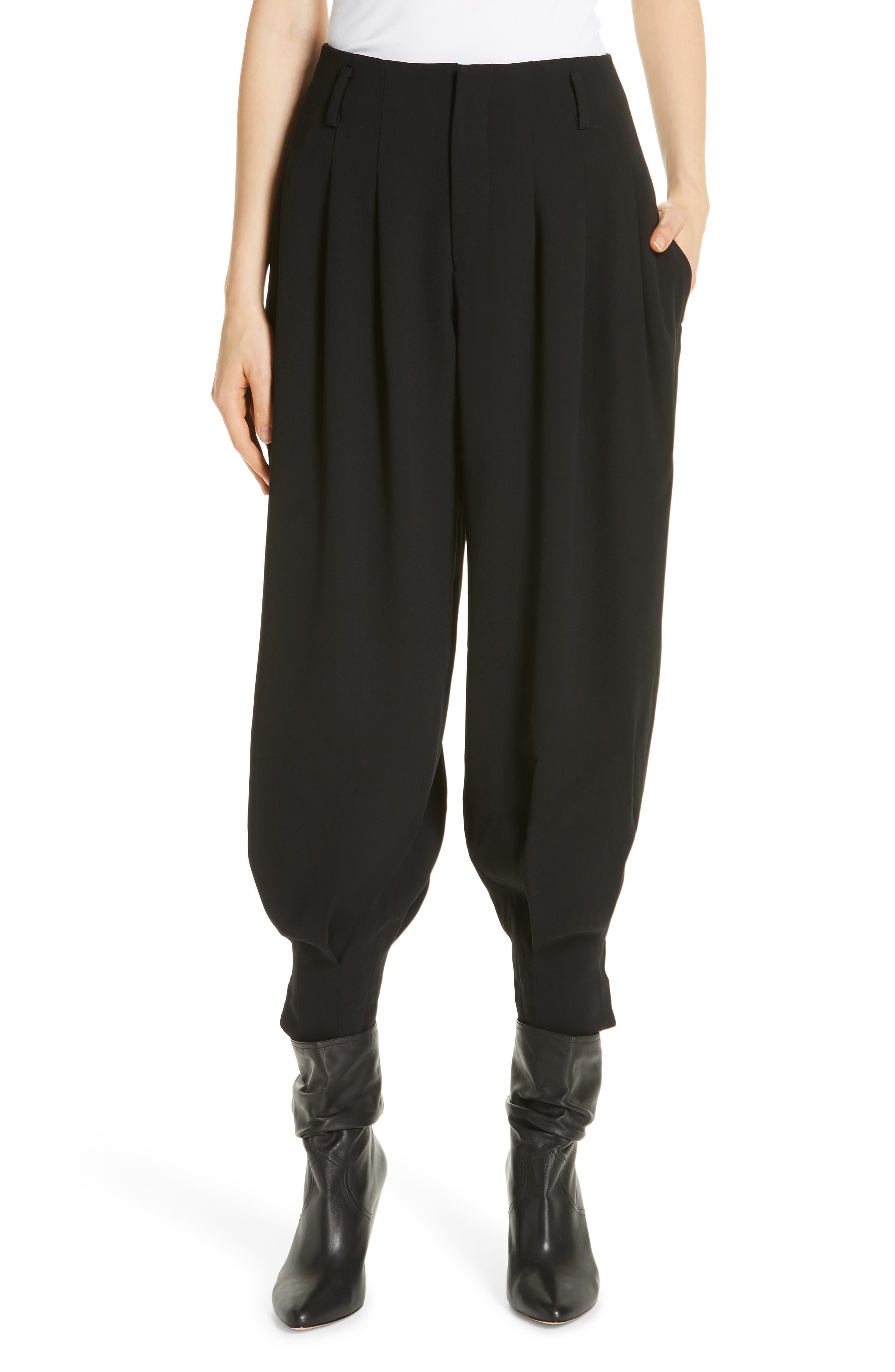 High Rise Harem Pants,                         Main,                         color, POLO BLACK