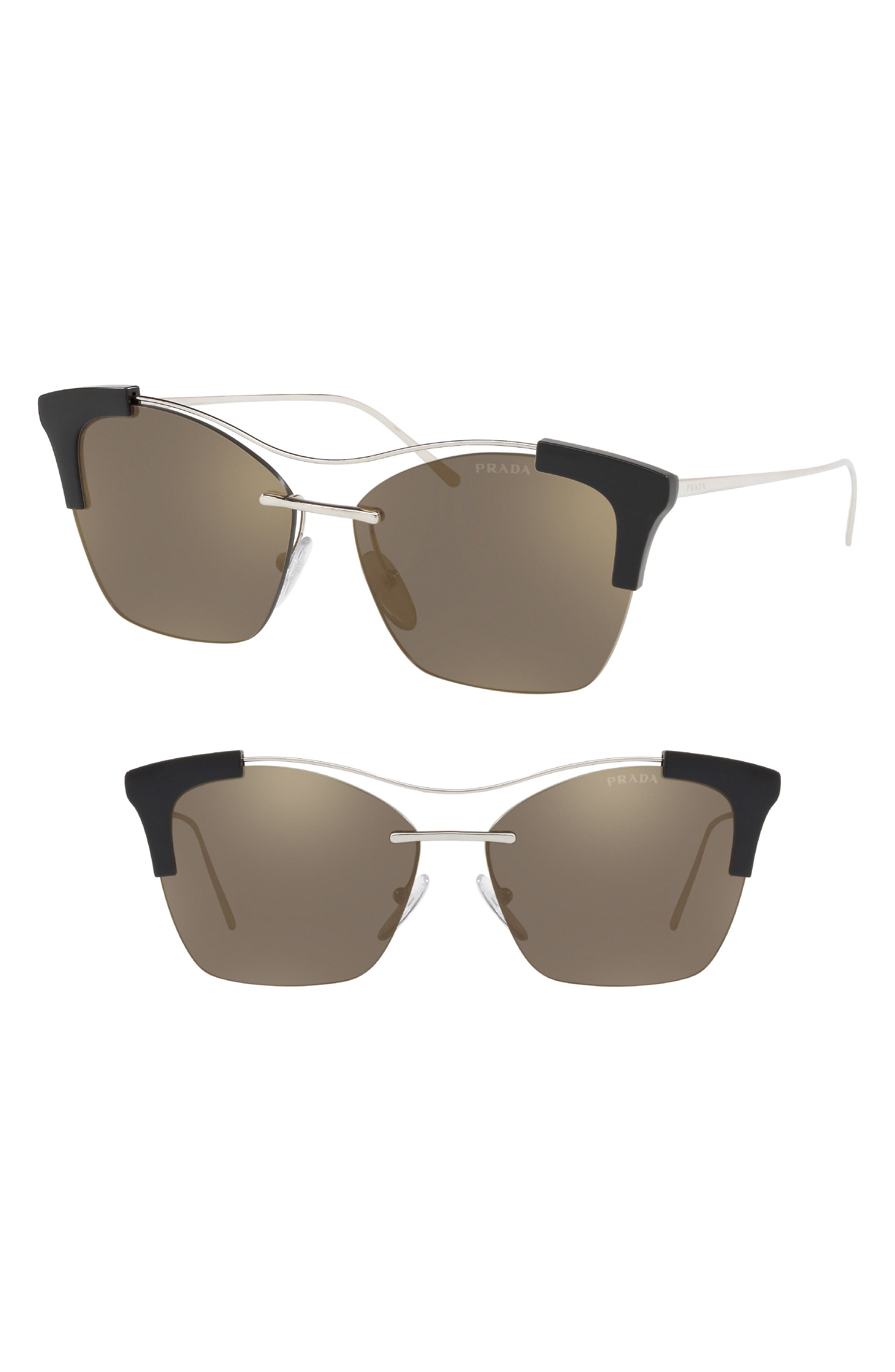 Evolution 57mm Butterfly Sunglasses,                             Main thumbnail 1, color,                             042