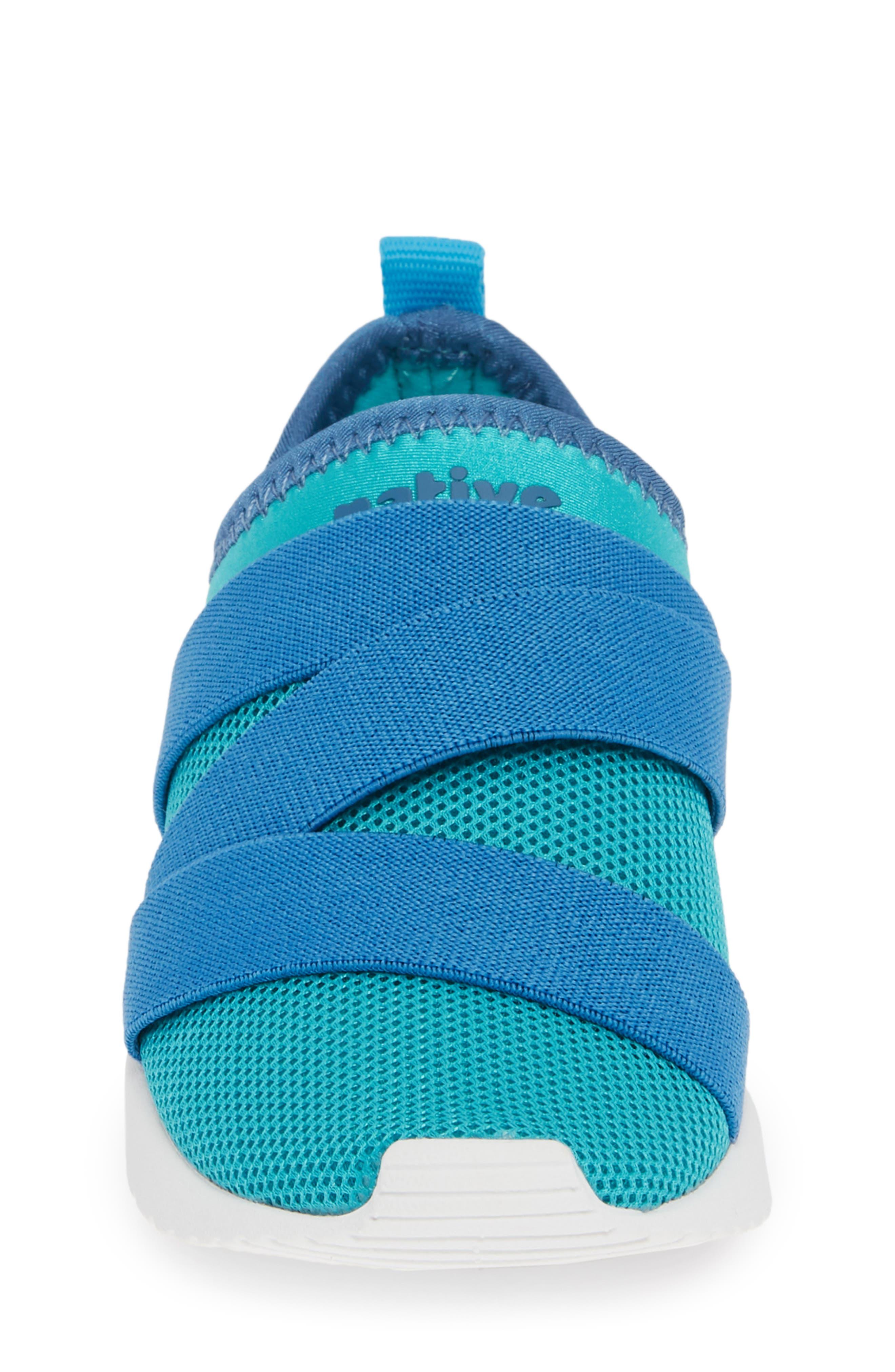 NATIVE SHOES,                             Phoenix Slip-On Vegan Sneaker,                             Alternate thumbnail 4, color,                             GLACIER GREEN/ BLUE/ WHITE