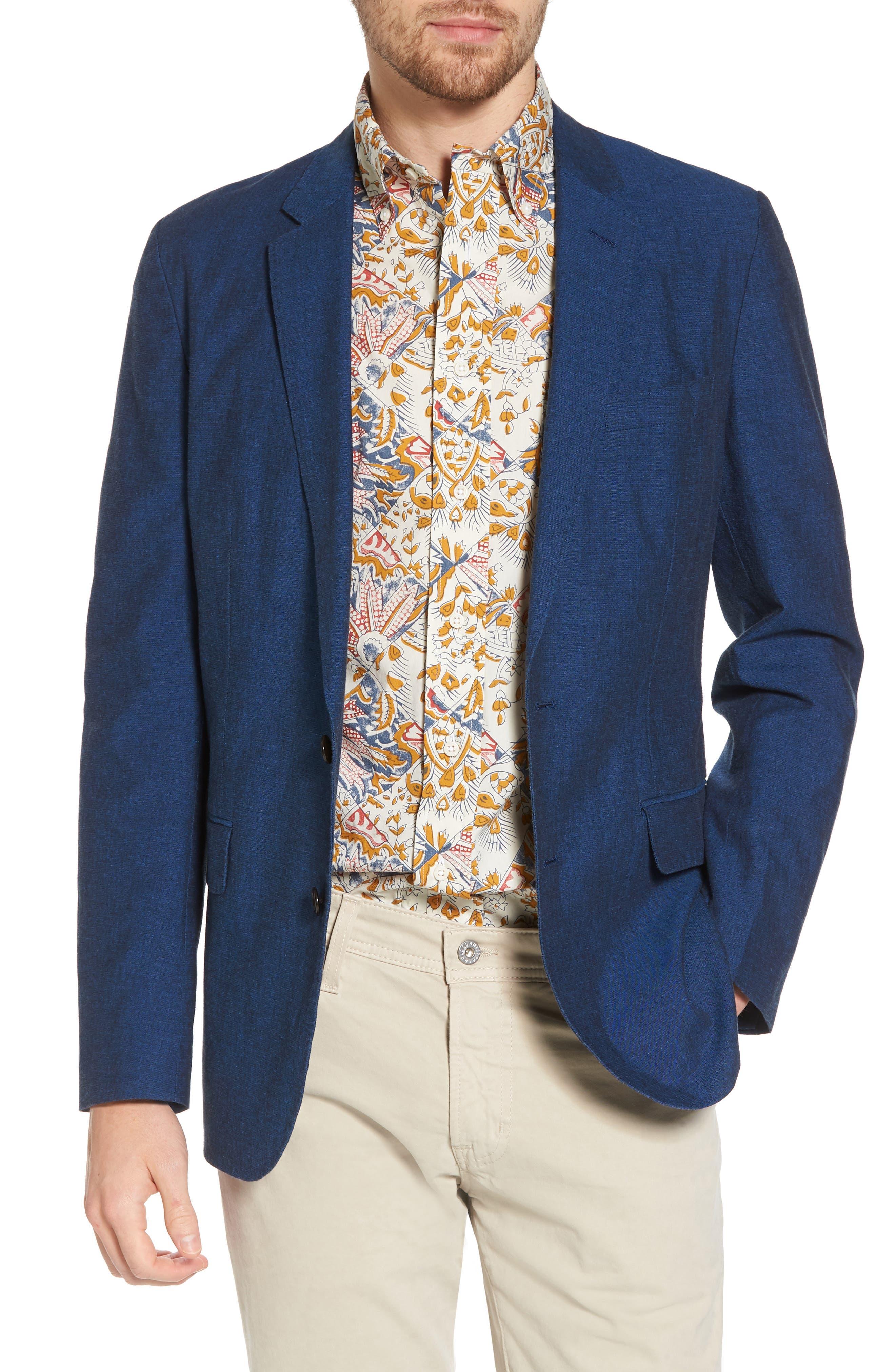 Ludlow Cotton & Linen Blazer,                         Main,                         color,