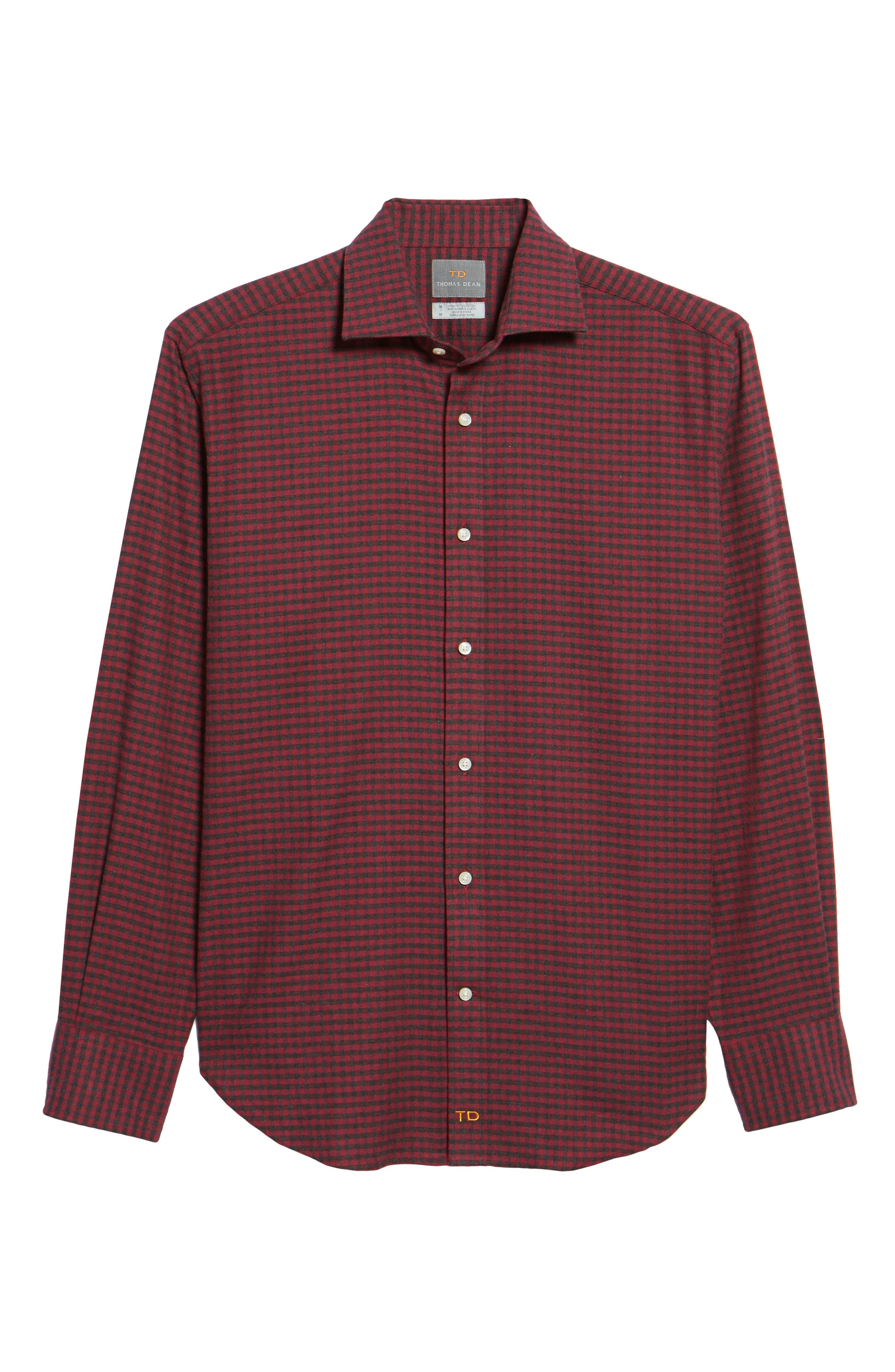 Regular Fit Check Sport Shirt,                             Alternate thumbnail 6, color,                             DARK PINK