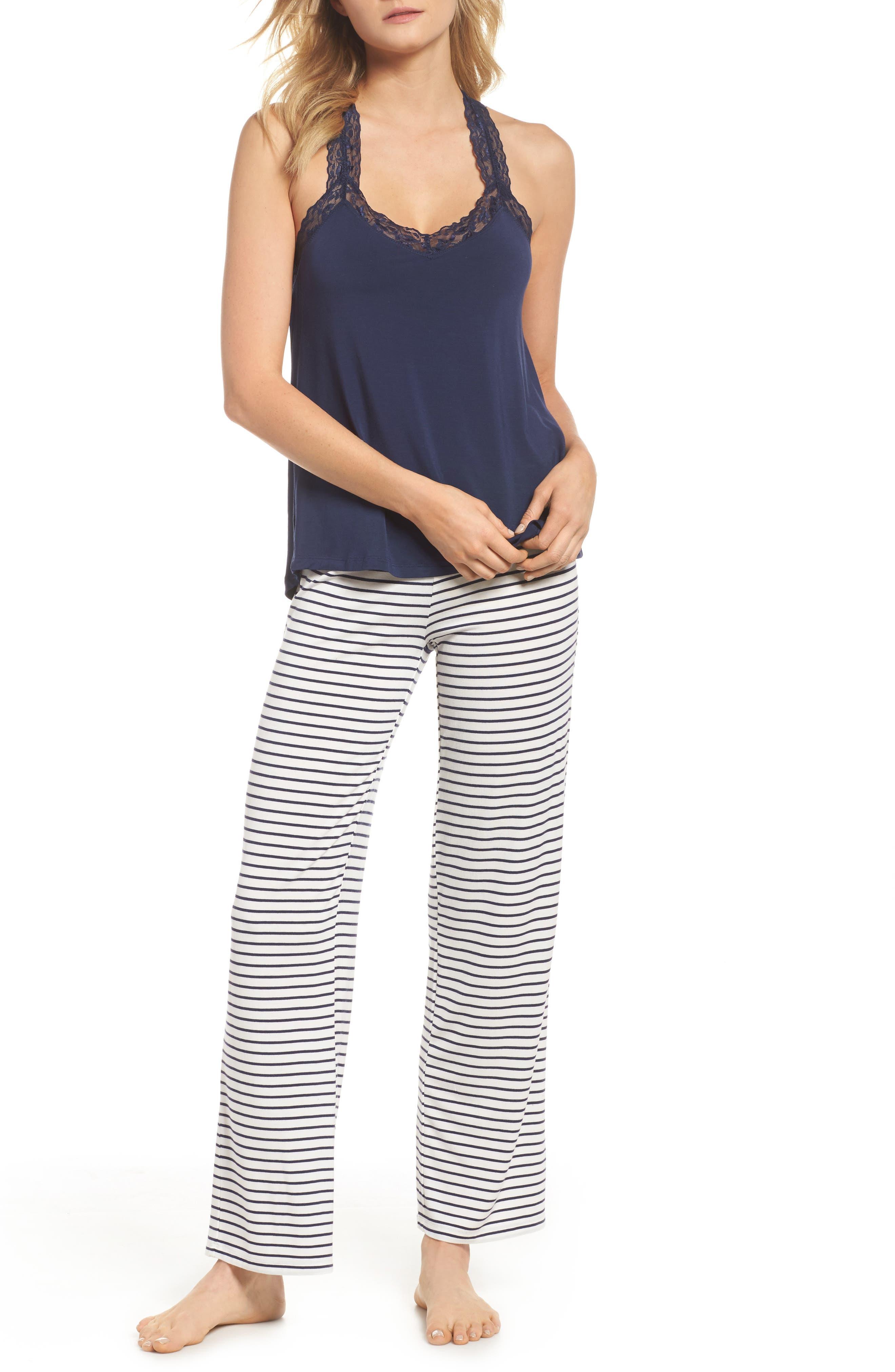Stripe Pajama Pants,                             Alternate thumbnail 7, color,                             900