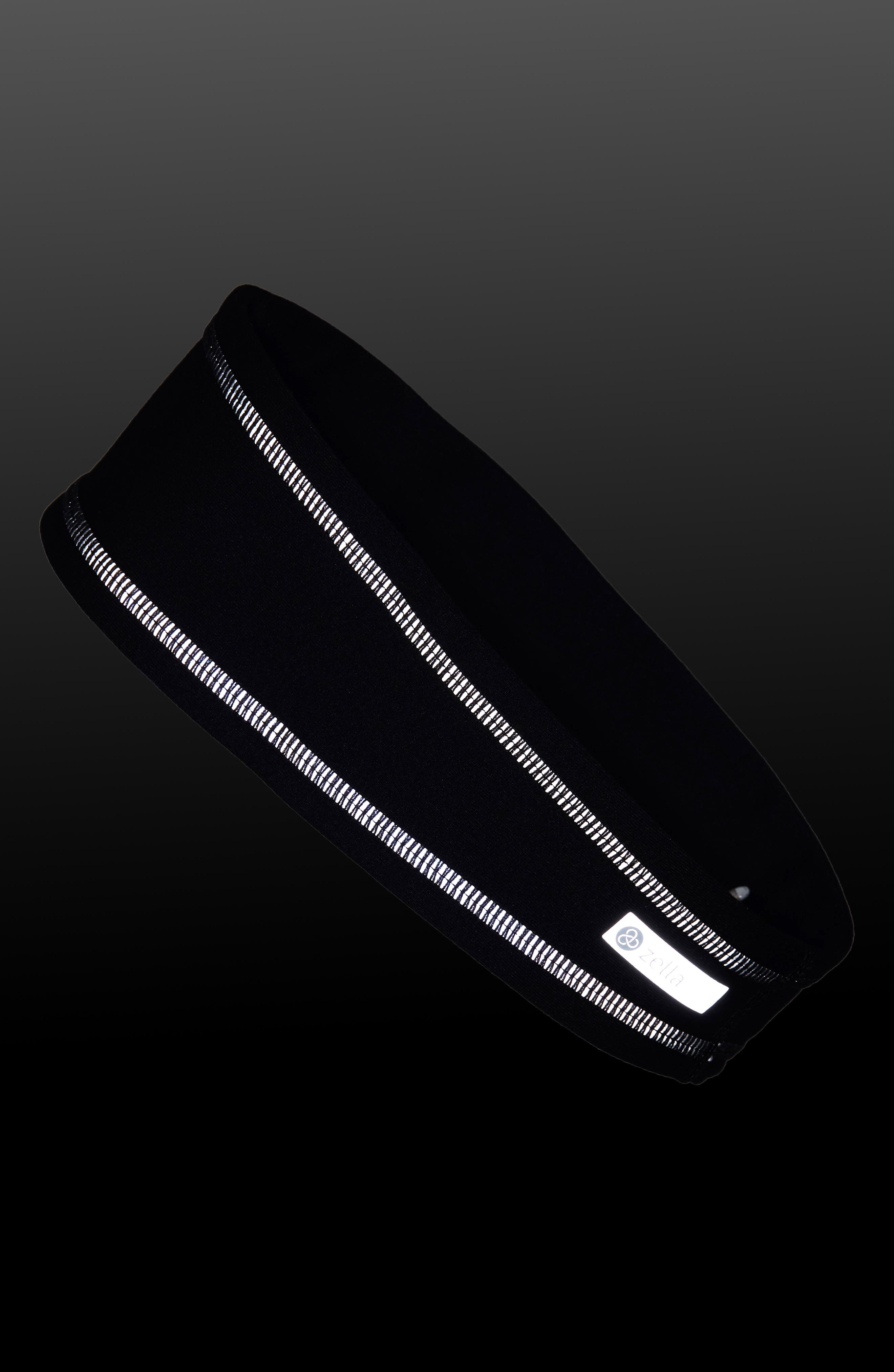 ZELLA,                             'Zeltek' Reflective Headband,                             Alternate thumbnail 2, color,                             BLACK