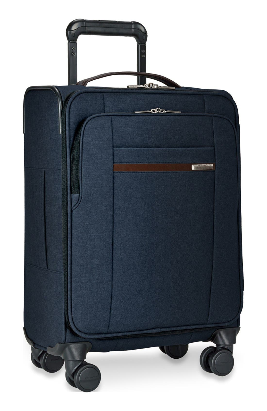 'Kinzie Street' International Wheeled Carry-On,                             Alternate thumbnail 3, color,                             NAVY BLUE
