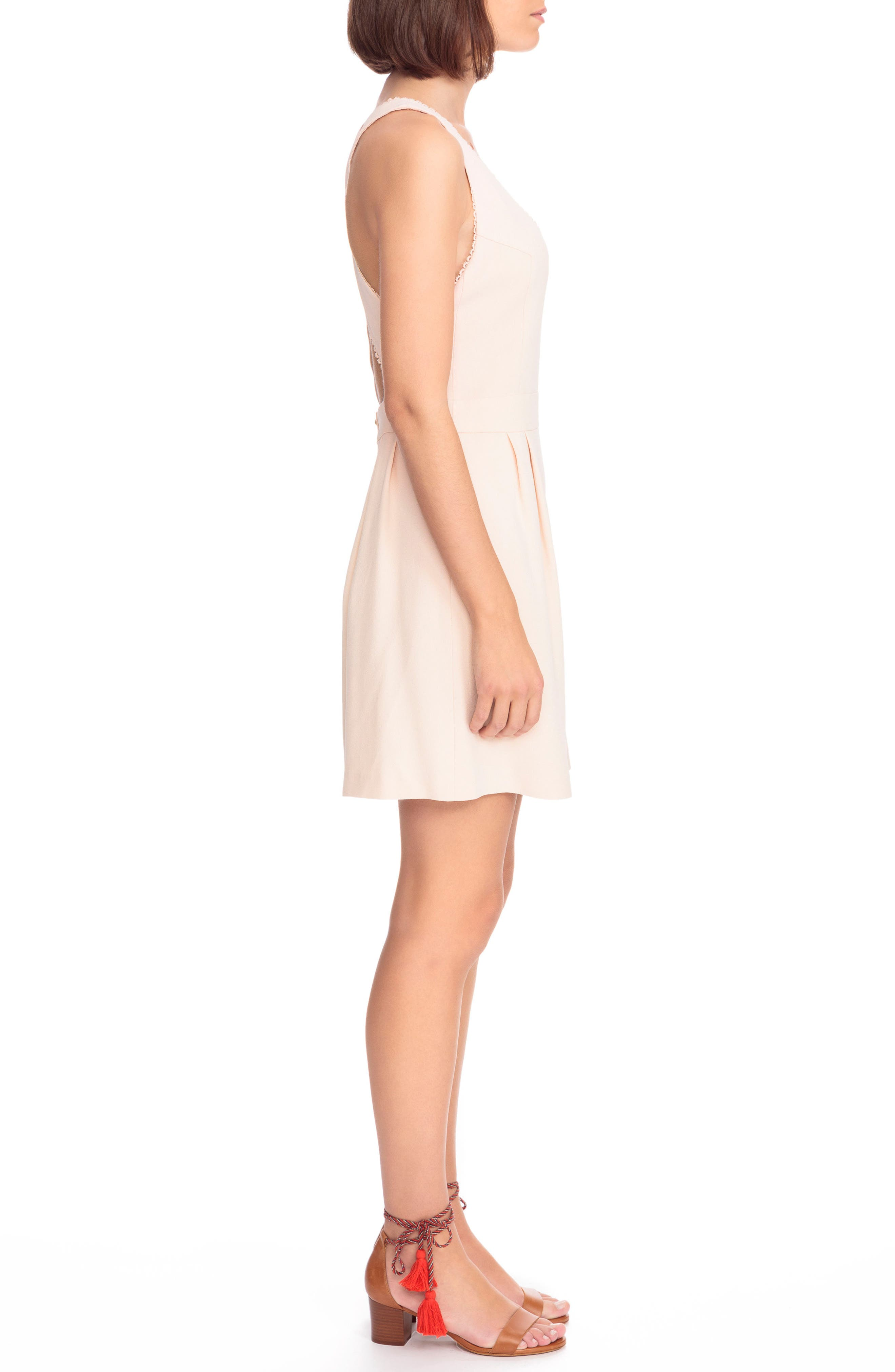Alya Crisscross A-Line Dress,                             Alternate thumbnail 7, color,