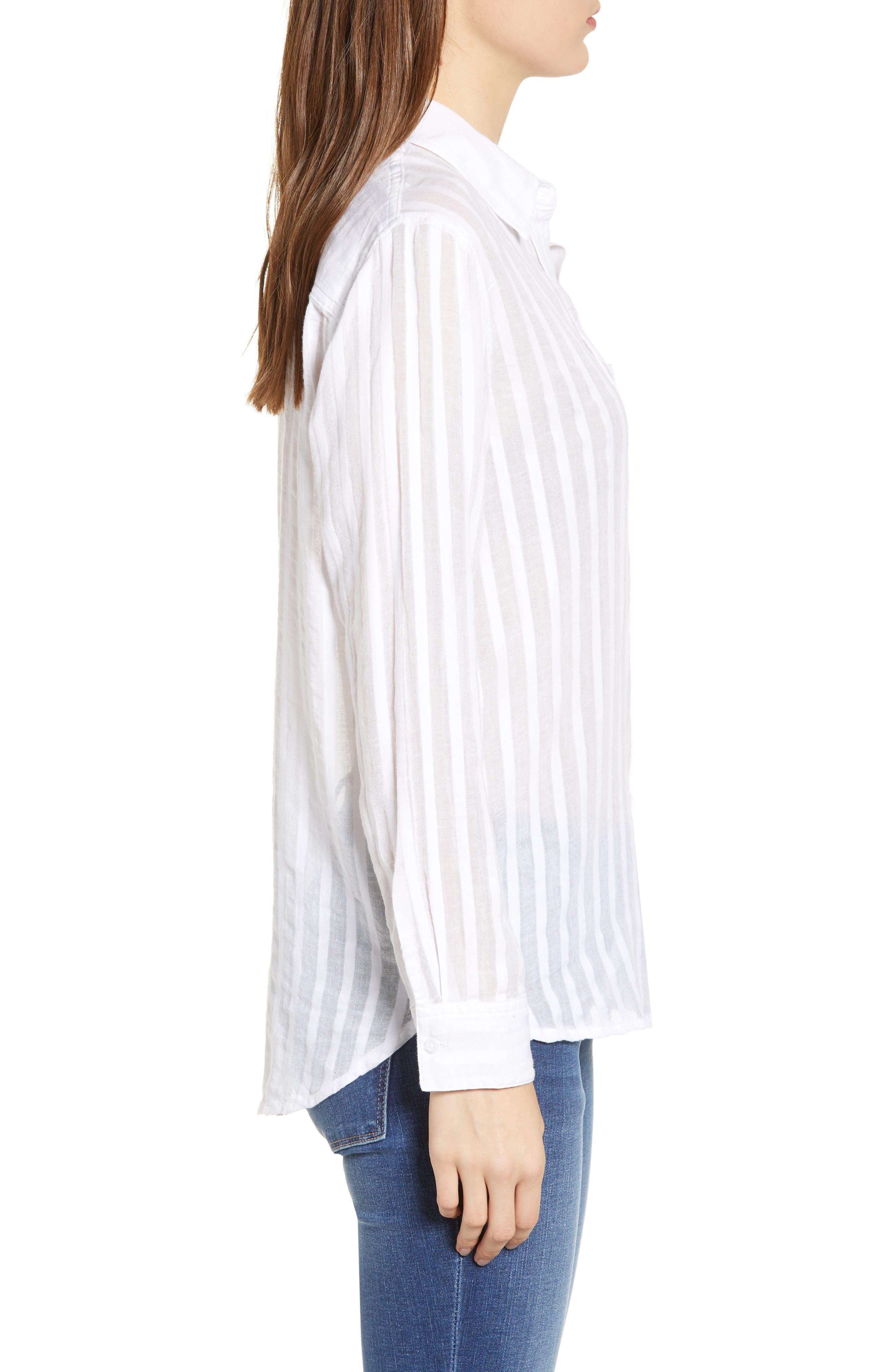 Charli Cotton Shirt,                             Alternate thumbnail 3, color,                             135