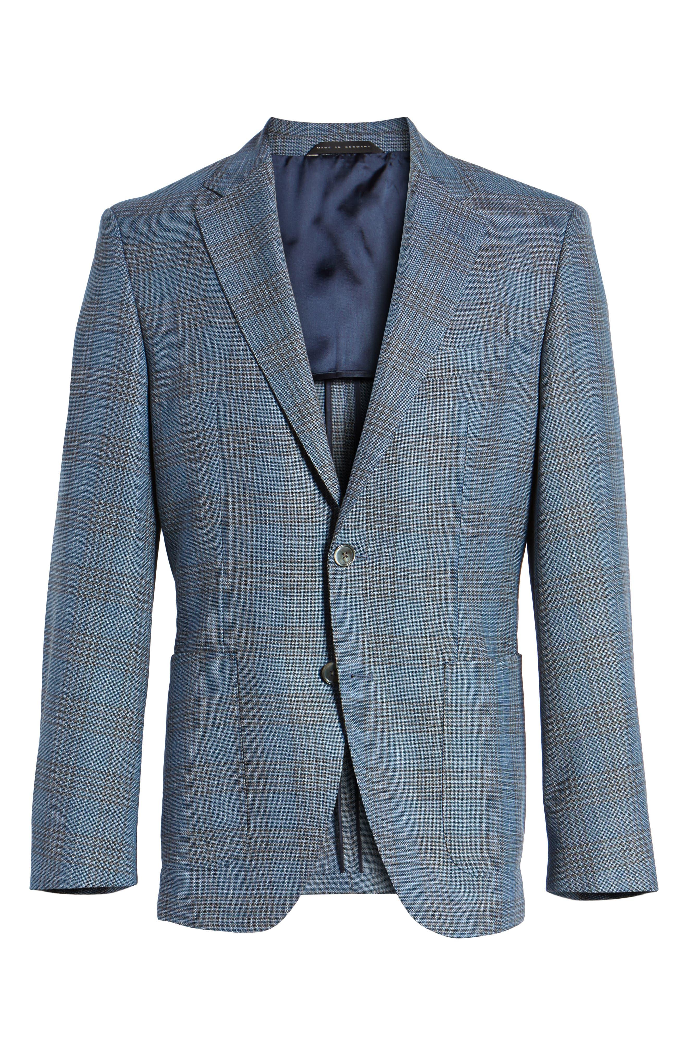 Janson Classic Fit Plaid Wool Sport Coat,                             Alternate thumbnail 5, color,                             473