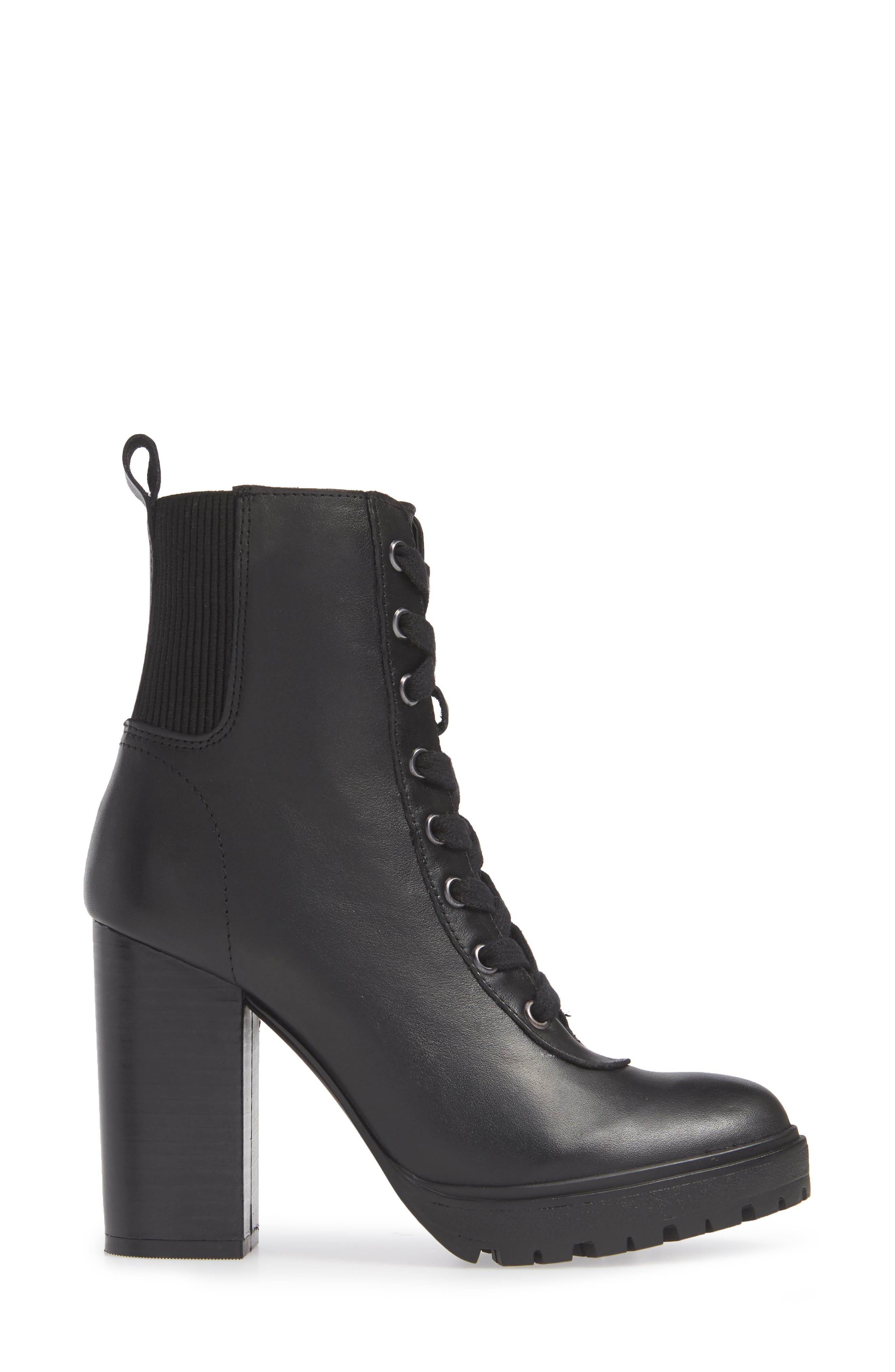 Latch Boot,                             Alternate thumbnail 3, color,                             BLACK LEATHER