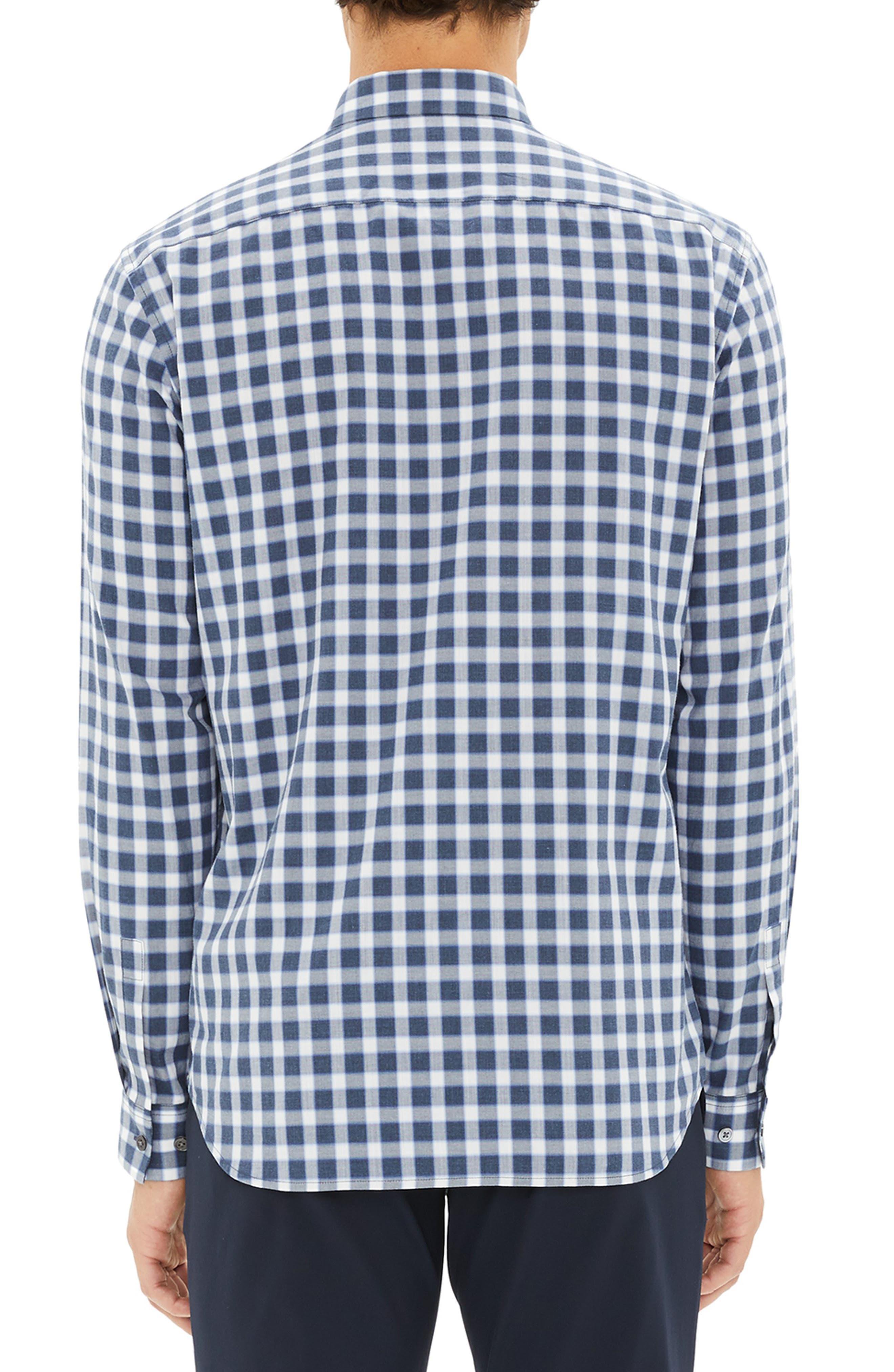 Irving Regular Fit Check Sport Shirt,                             Alternate thumbnail 2, color,                             ADMIRAL CHECK