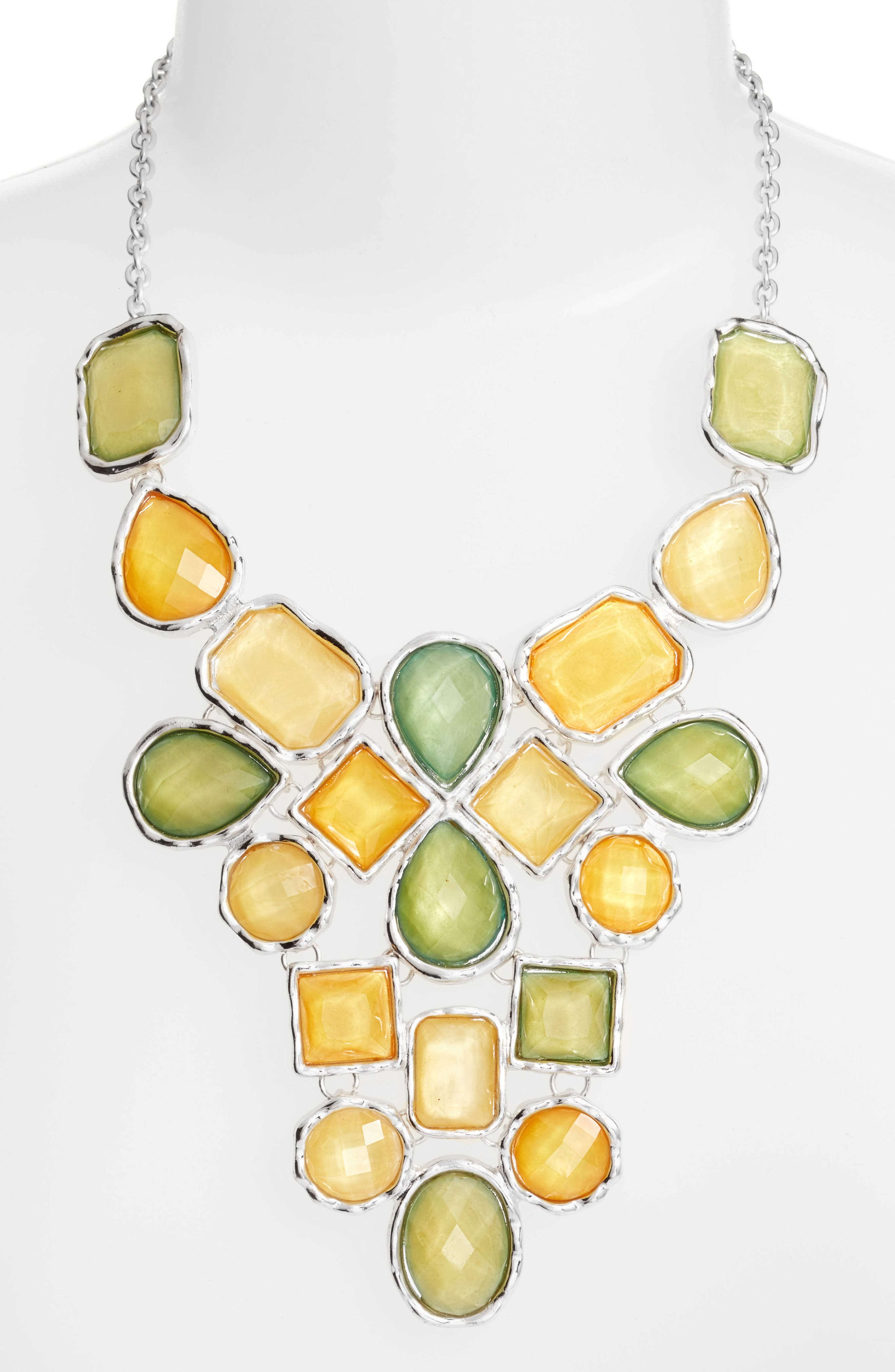 Stone Statement Necklace,                         Main,                         color, 300