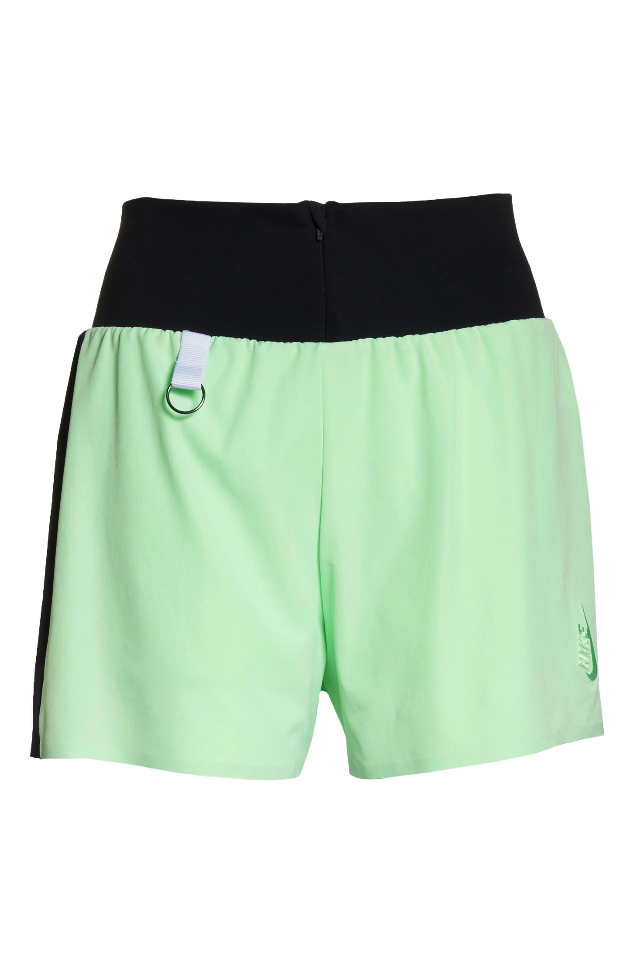 NRG Women's Dri-FIT Running Shorts,                             Alternate thumbnail 7, color,                             VAPOR GREEN/ BLACK/ WHITE