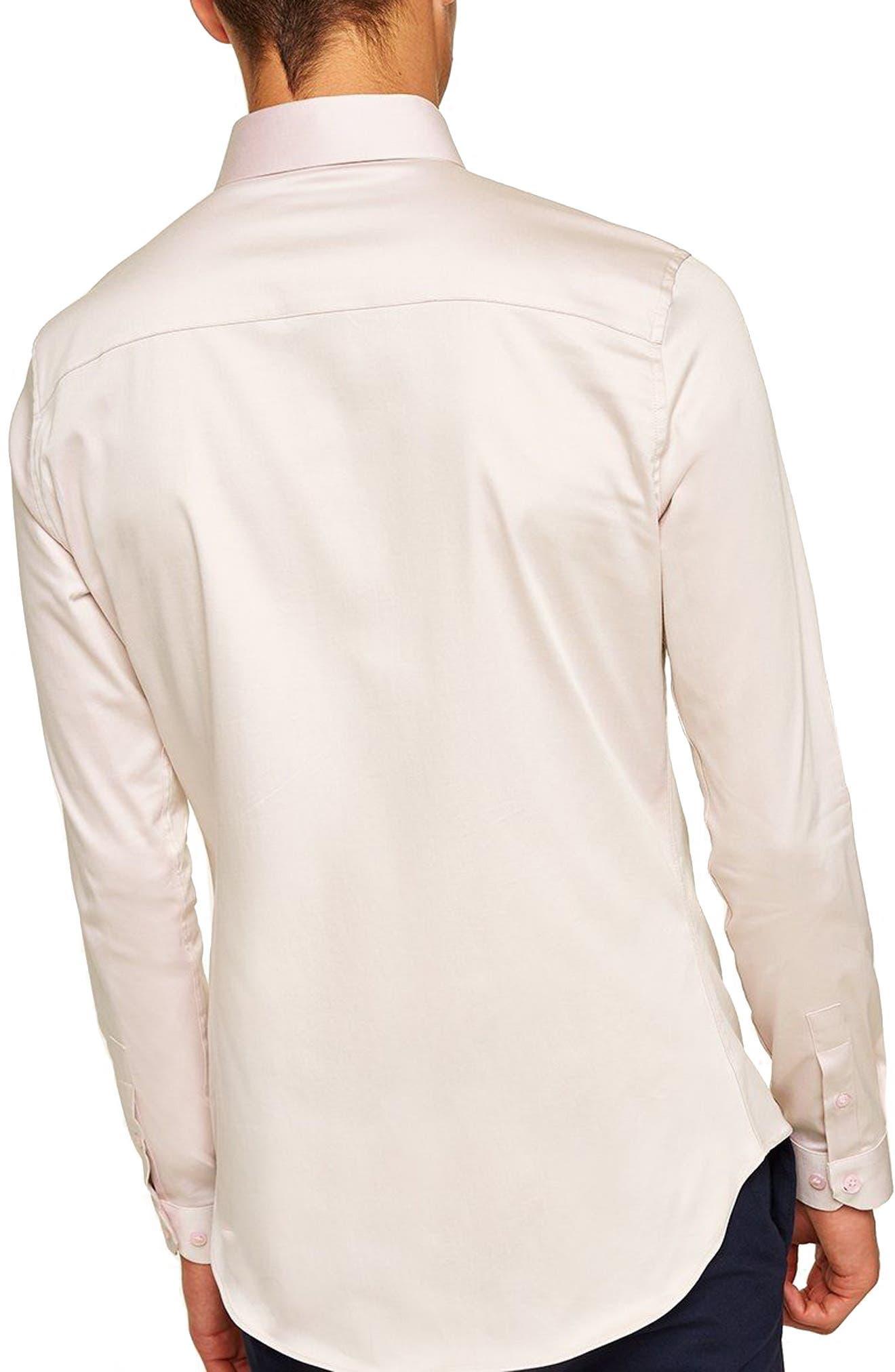 Stretch Smart Shirt,                             Alternate thumbnail 3, color,                             PURPLE