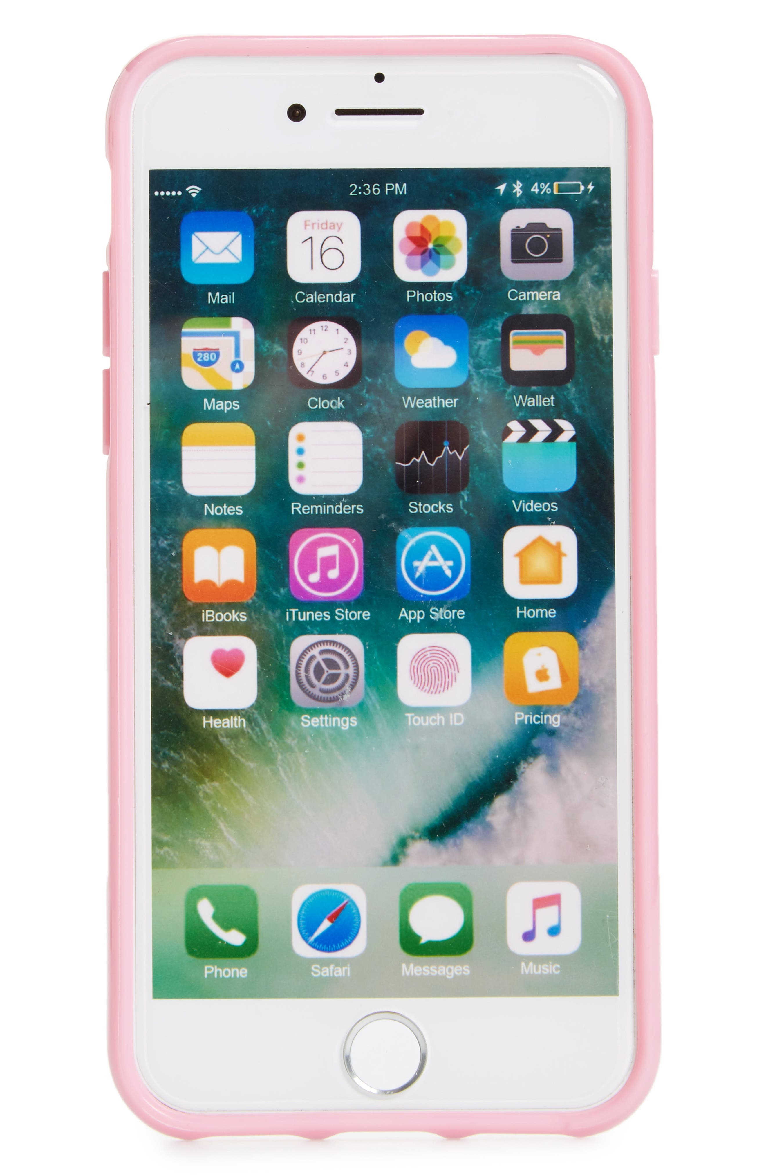 crystal embellished iPhone 6/6s/7/8 & 6/6s/7/8 Plus case,                             Main thumbnail 1, color,