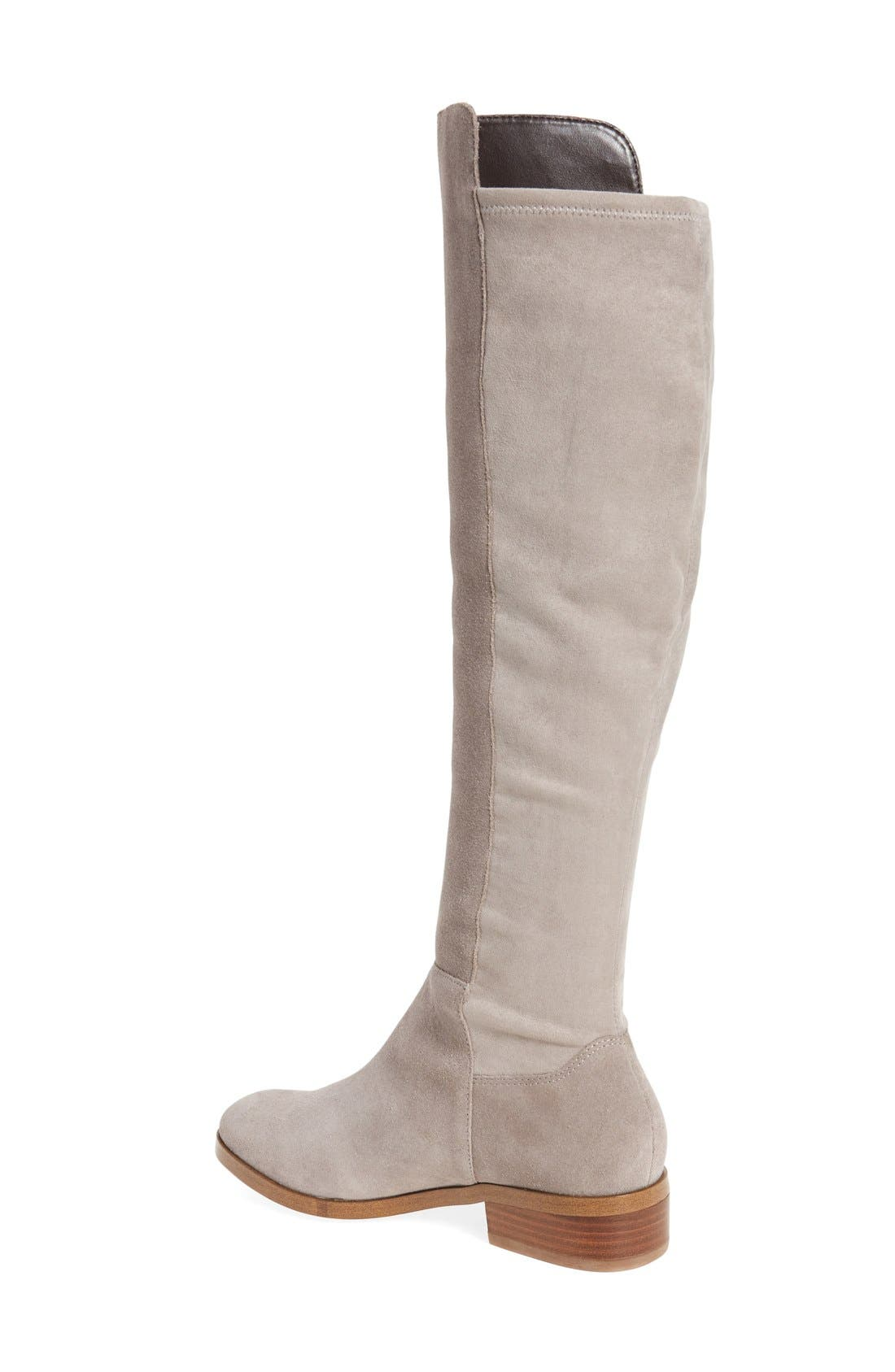 Calypso Over the Knee Boot,                             Alternate thumbnail 2, color,                             MUSHROOM SUEDE