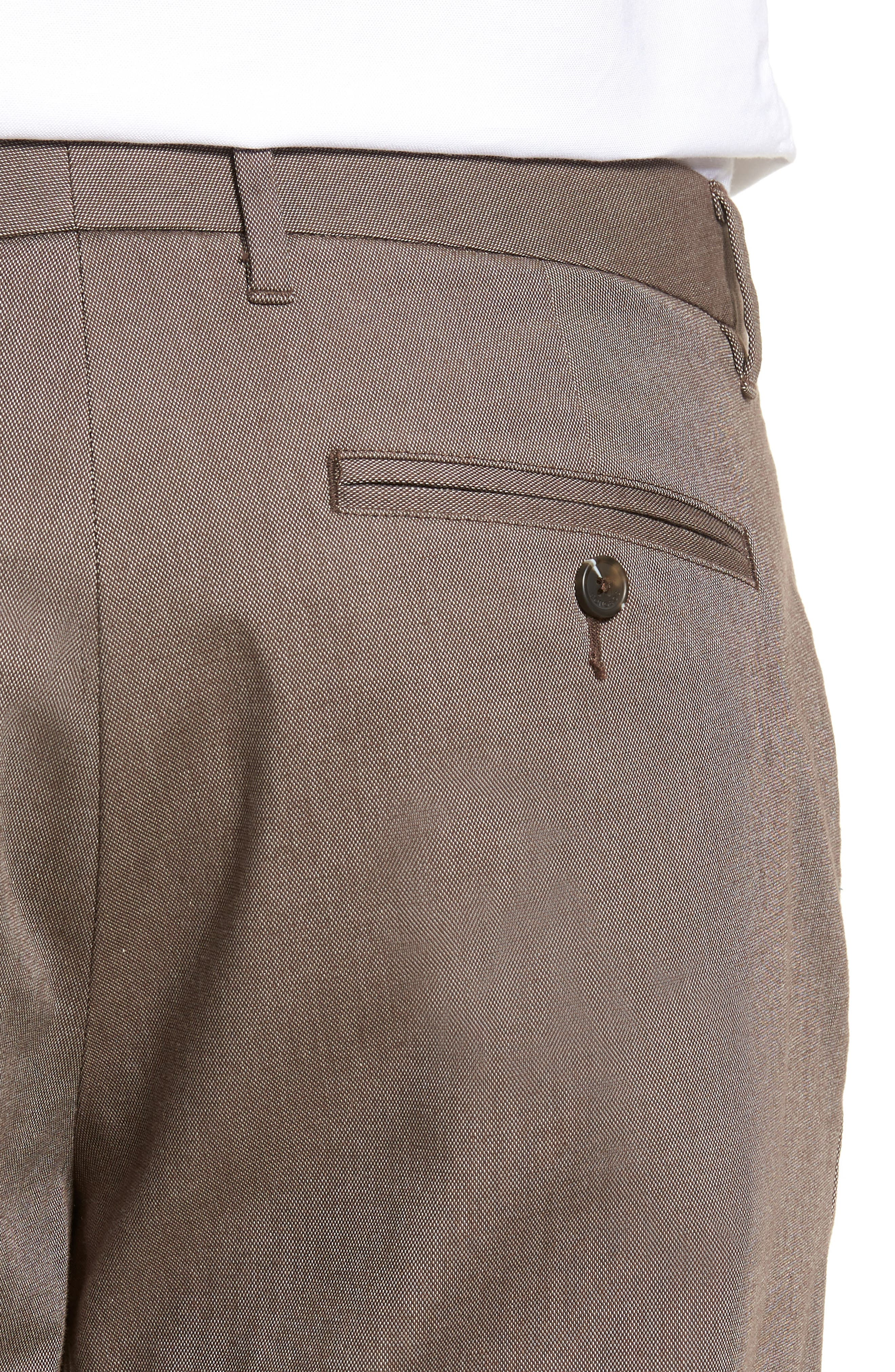 Weekday Warrior Flat Front Stretch Cotton Pants,                             Alternate thumbnail 4, color,                             200