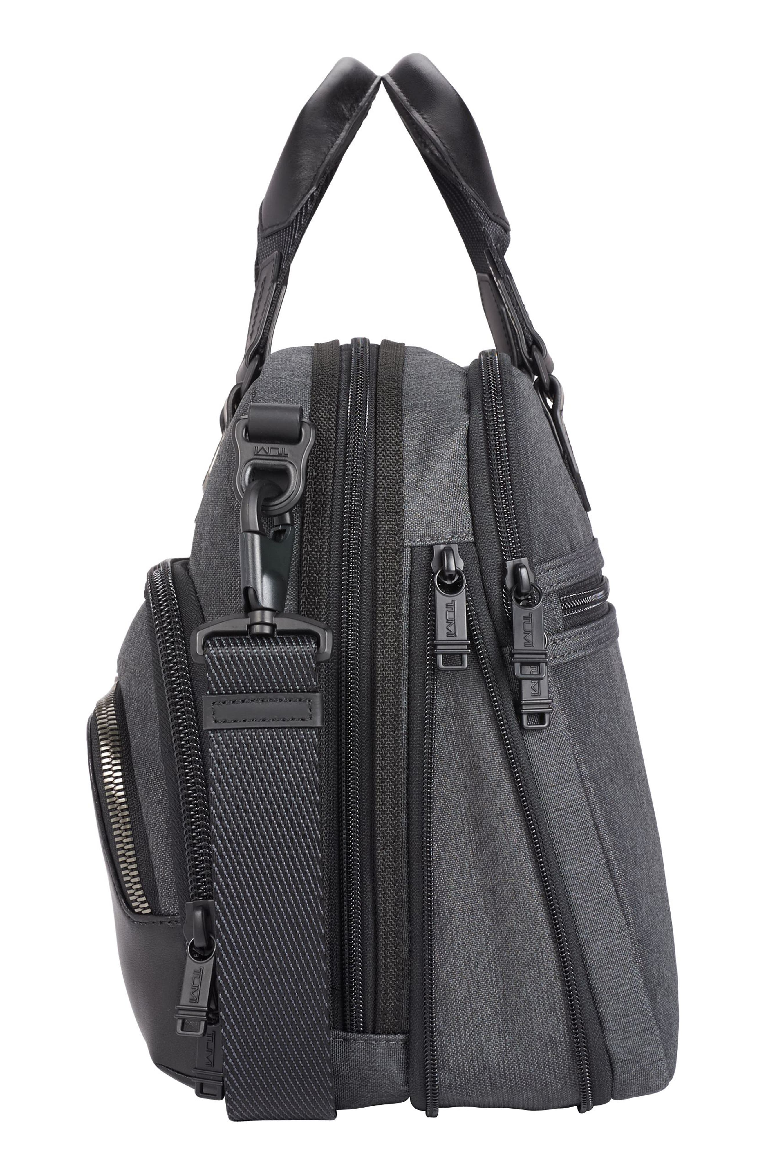 Albany - Slim Commuter Briefcase,                             Alternate thumbnail 4, color,                             ANTHRACITE
