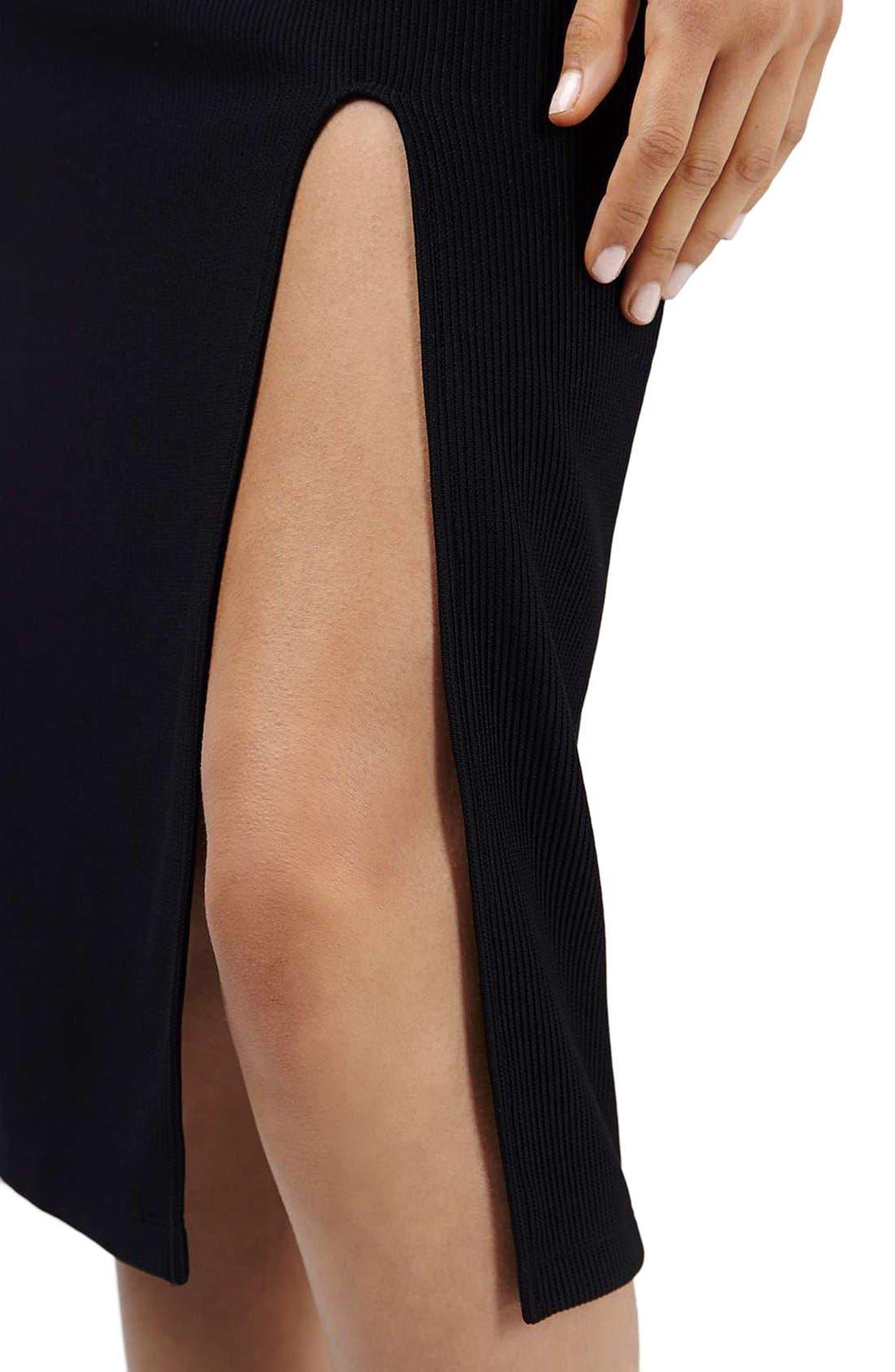Cold Shoulder Midi Dress,                             Alternate thumbnail 5, color,