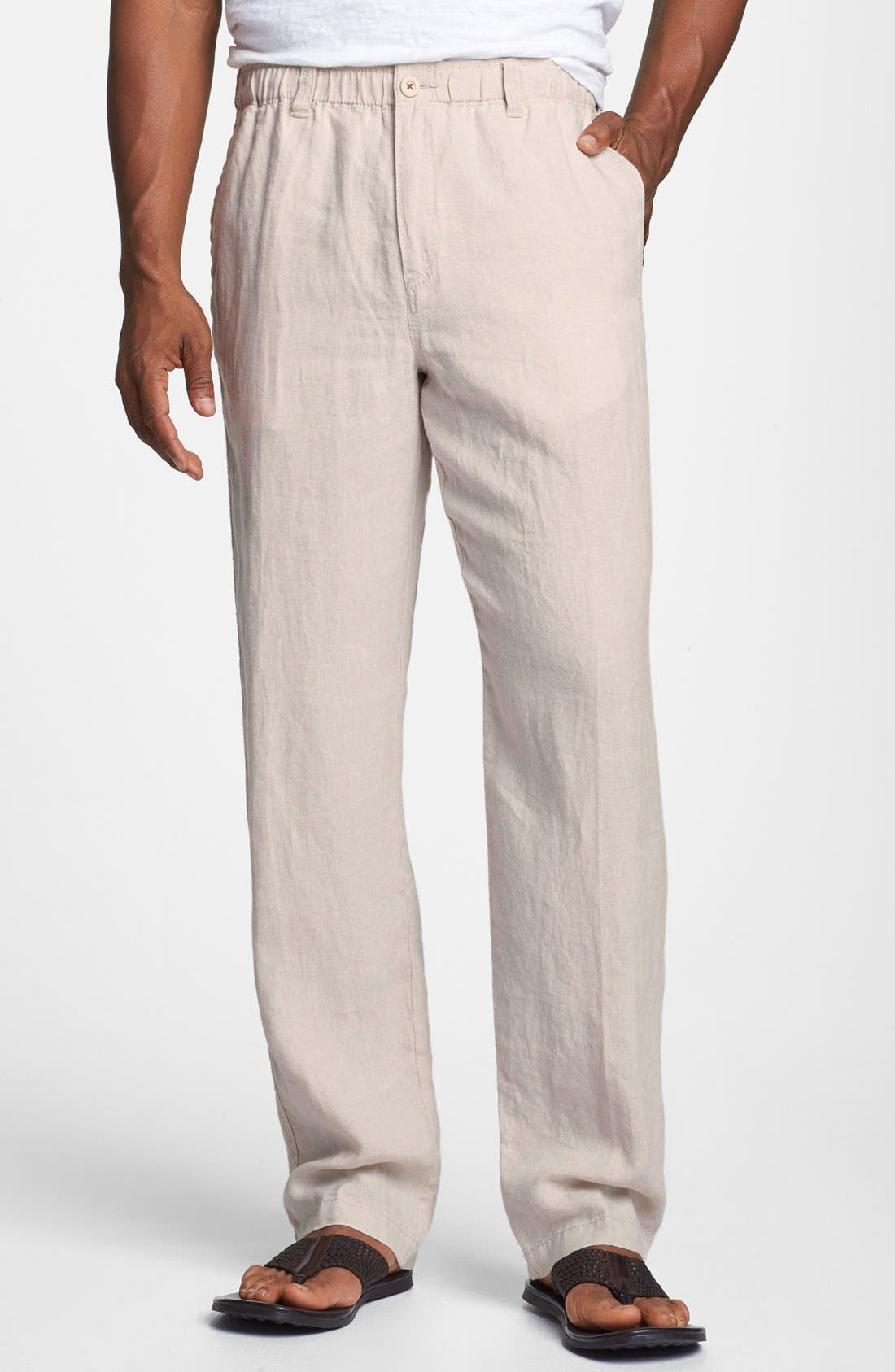 New Linen on the Beach Linen Pants,                             Main thumbnail 6, color,
