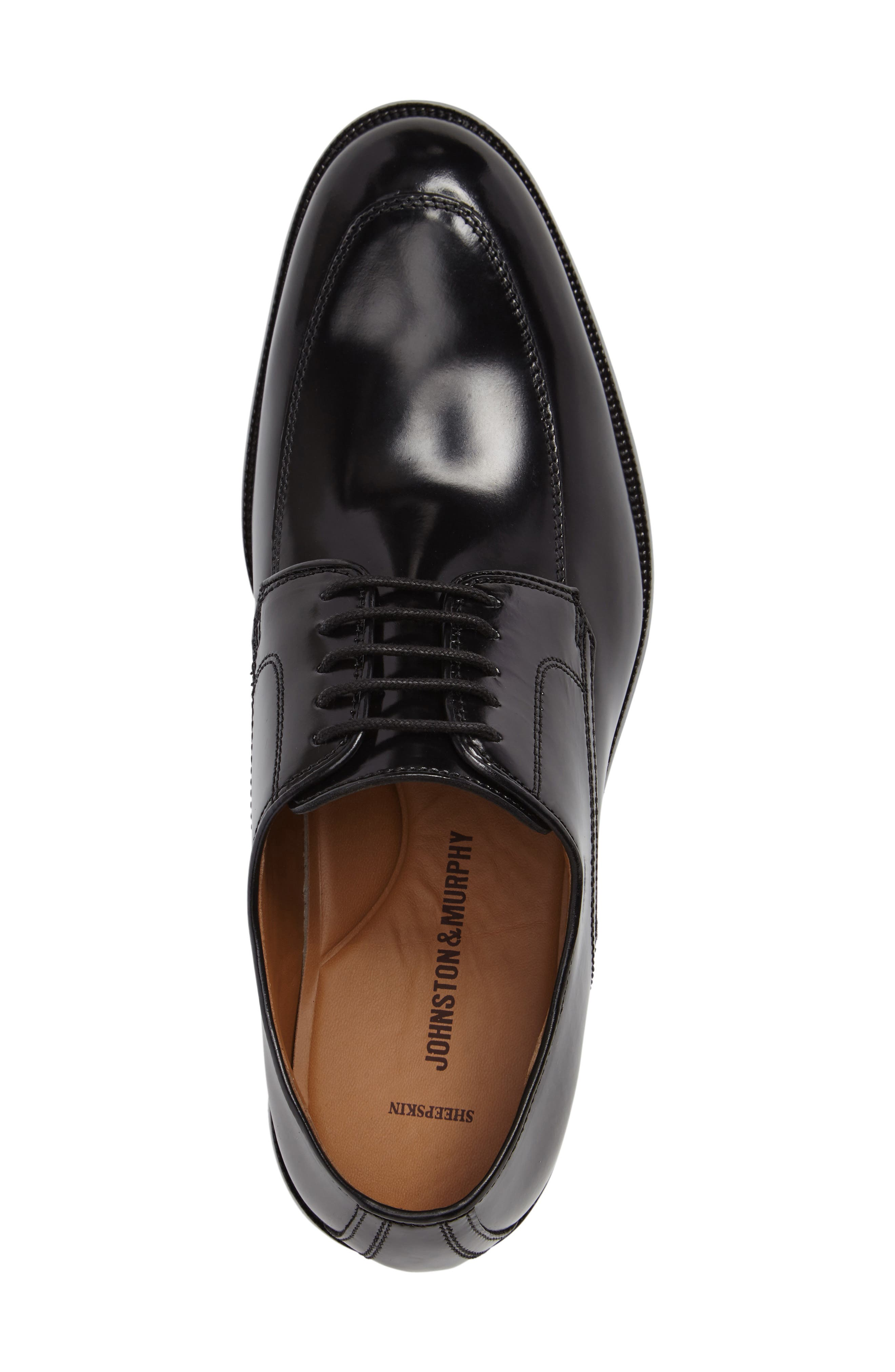 Bradford Apron-Toe Oxford,                             Alternate thumbnail 3, color,                             BLACK LEATHER