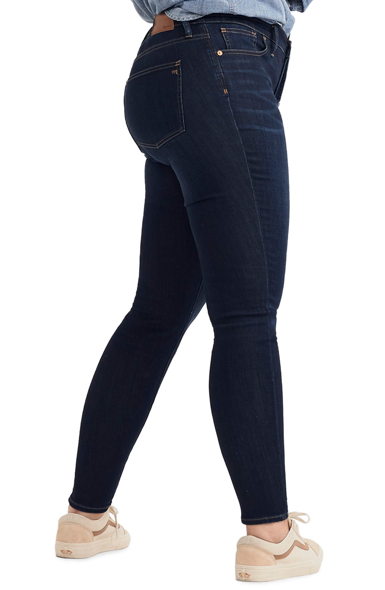 9-Inch High Rise Skinny Jeans,                             Alternate thumbnail 10, color,                             LARKSPUR