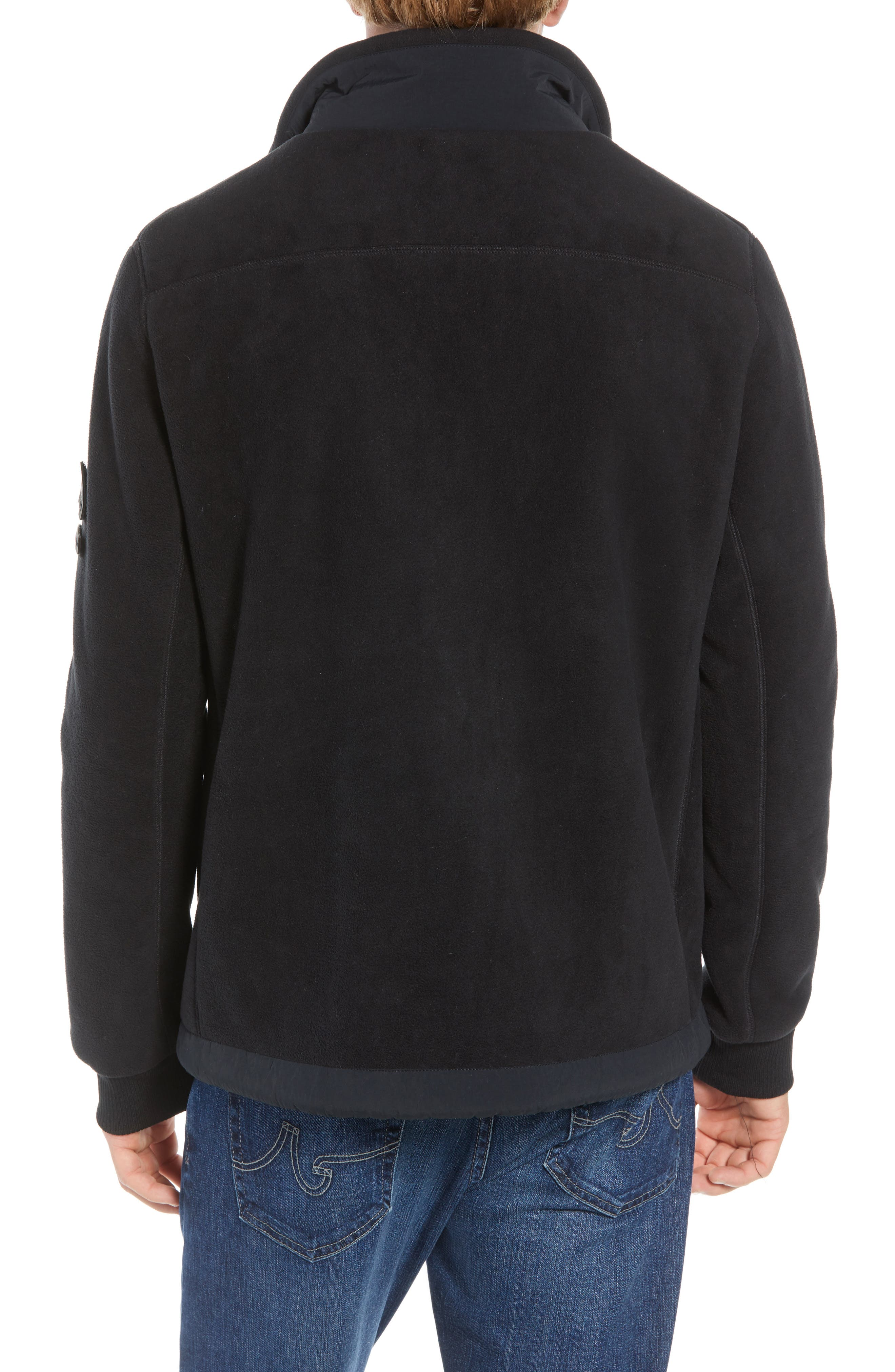 Schoening Zip Fleece Jacket,                             Alternate thumbnail 2, color,                             BLACK