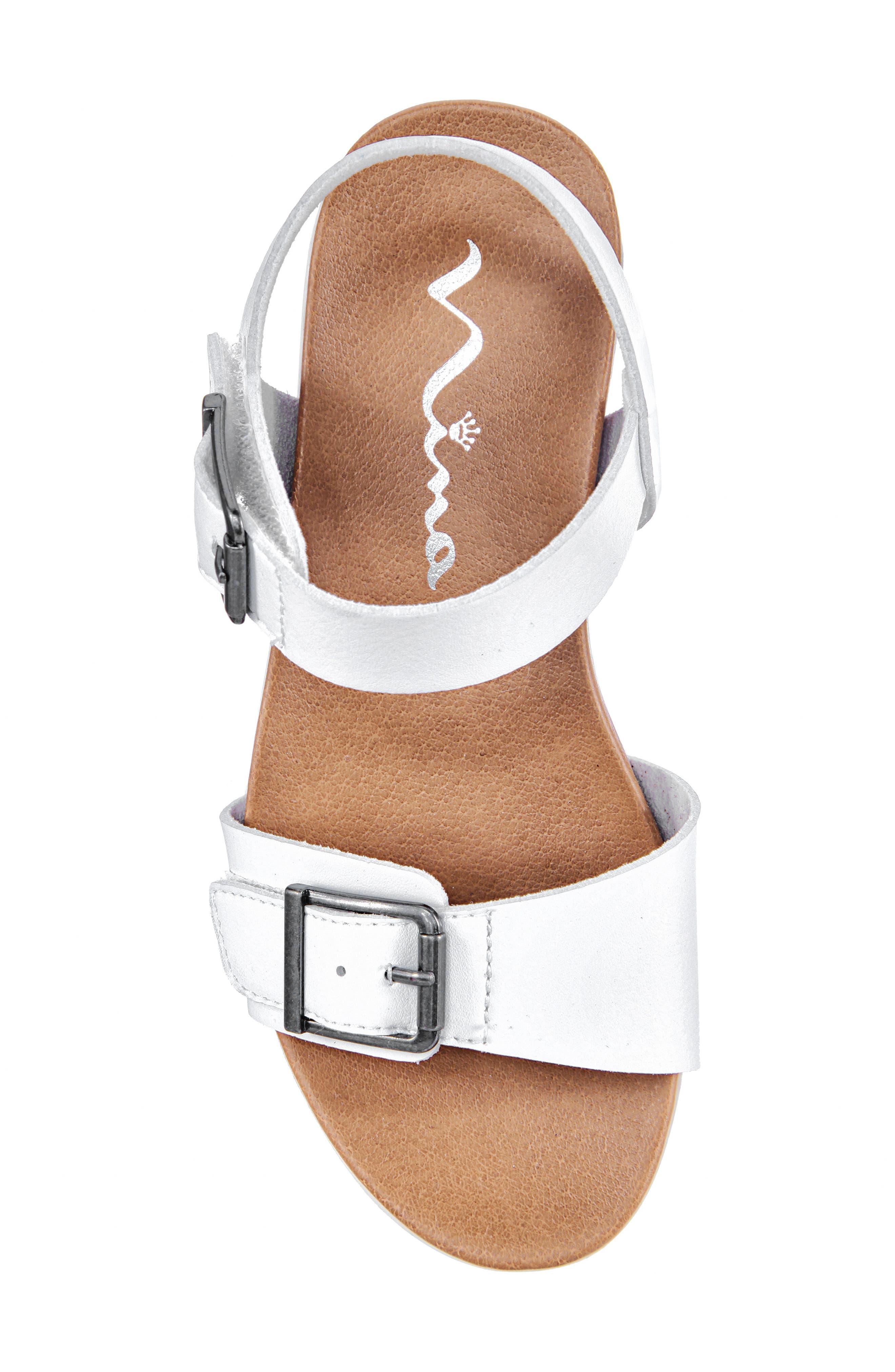 NINA,                             Jacklin3 Quarter Strap Sandal,                             Alternate thumbnail 5, color,                             WHITE TUMBLE