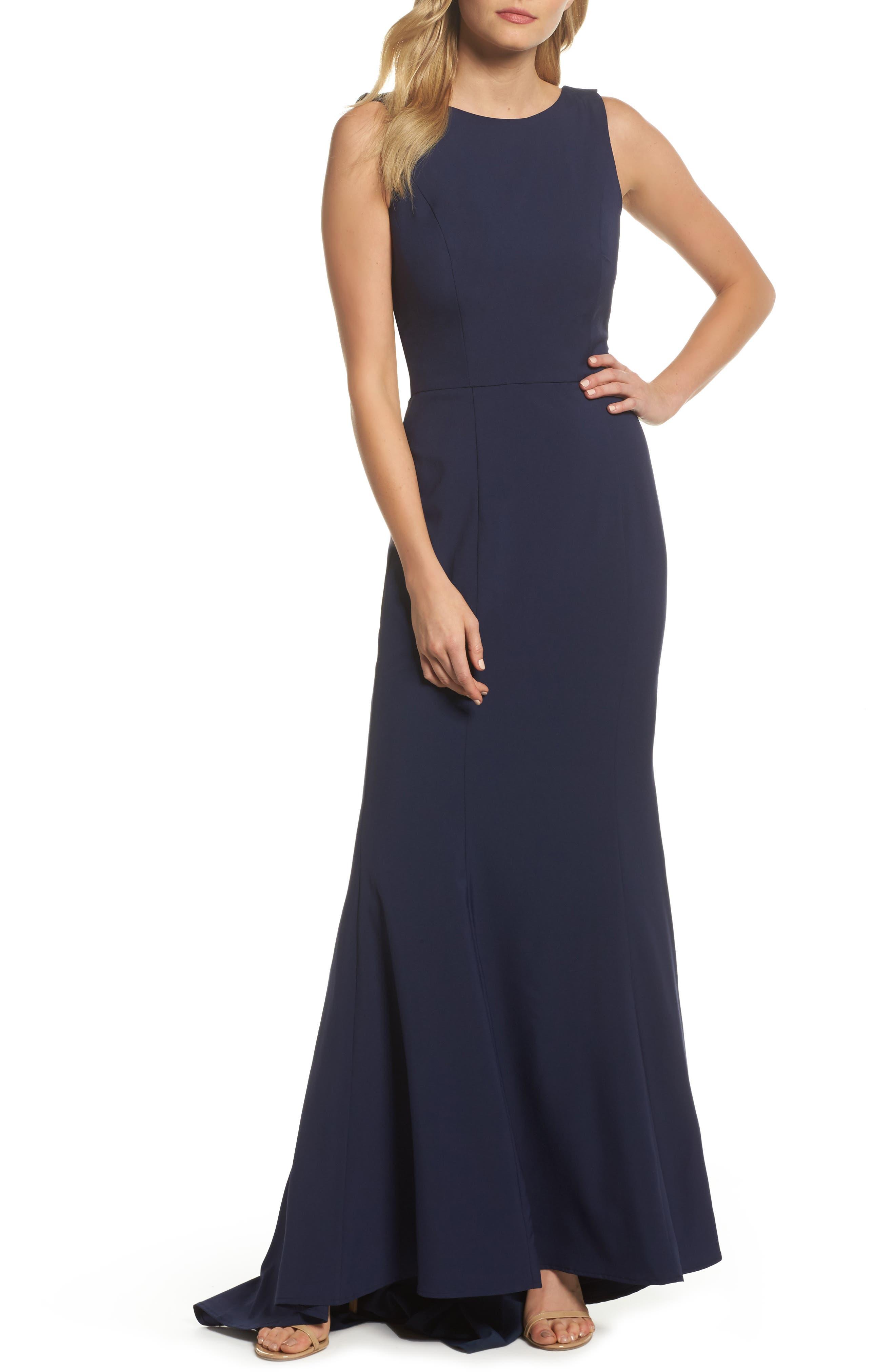 Jemima Ruffle Back Mermaid Gown,                         Main,                         color,