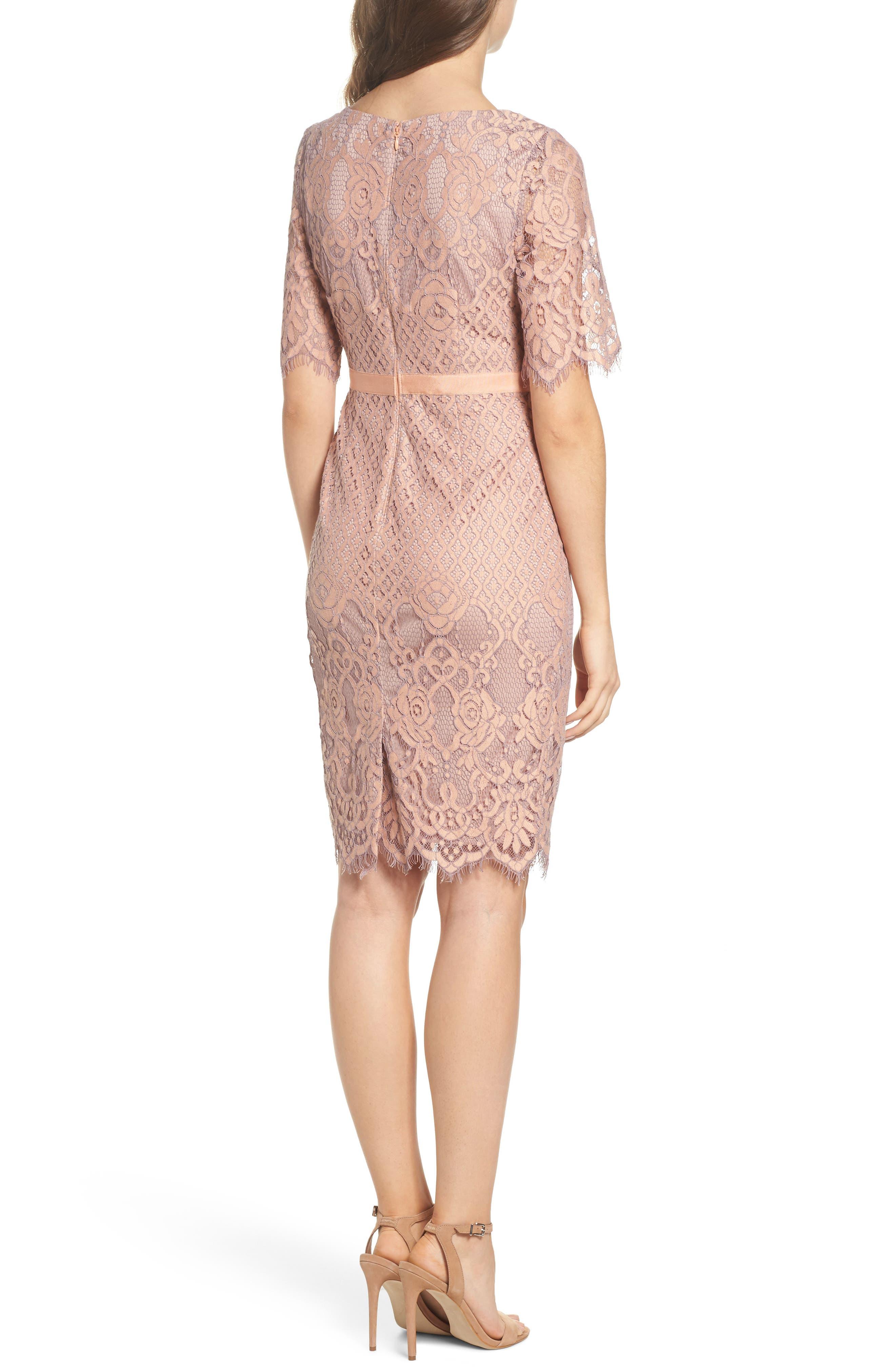Lace Sheath Dress,                             Alternate thumbnail 2, color,                             950
