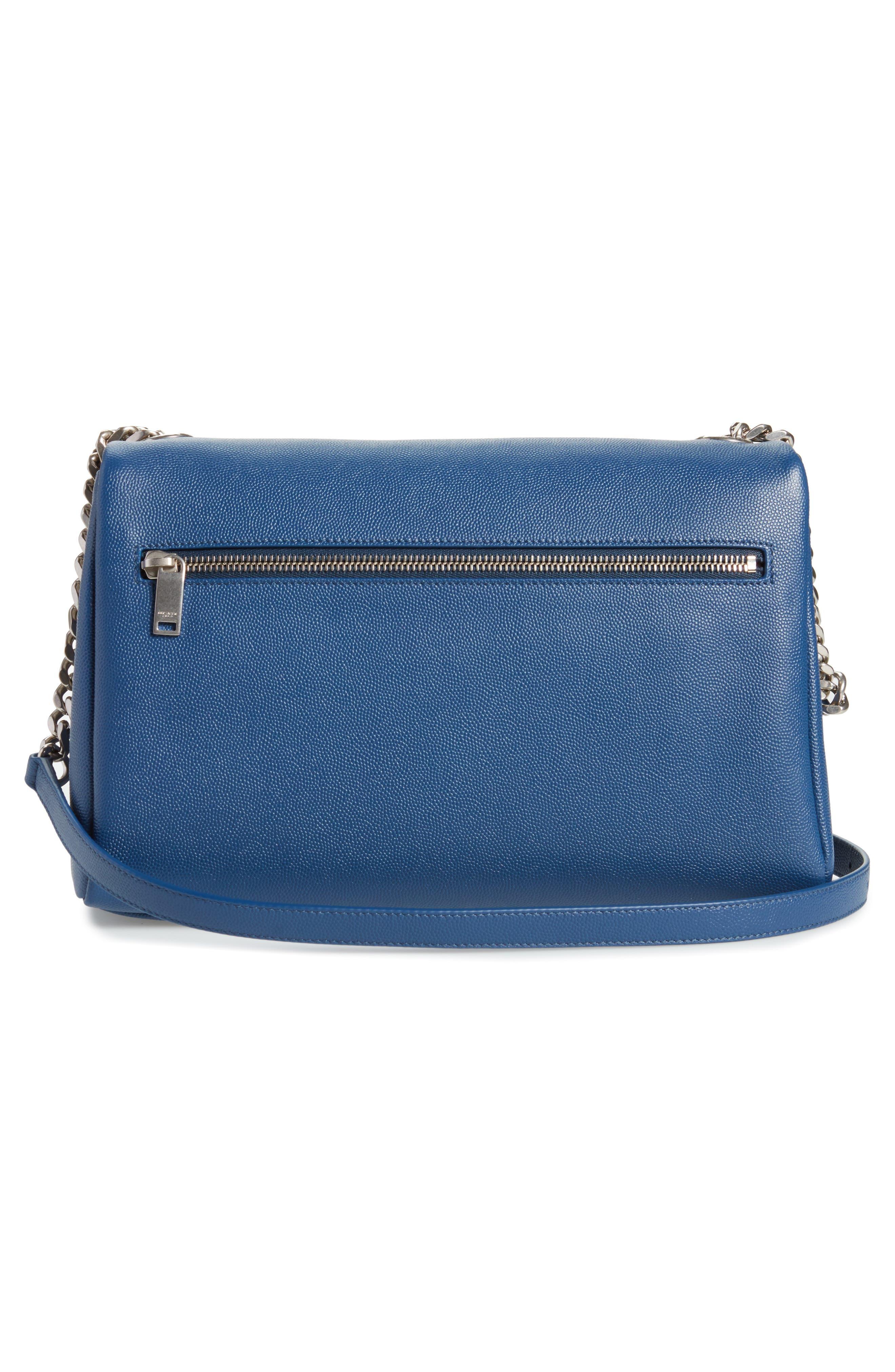 Medium West Hollywood Leather Shoulder Bag,                             Alternate thumbnail 8, color,