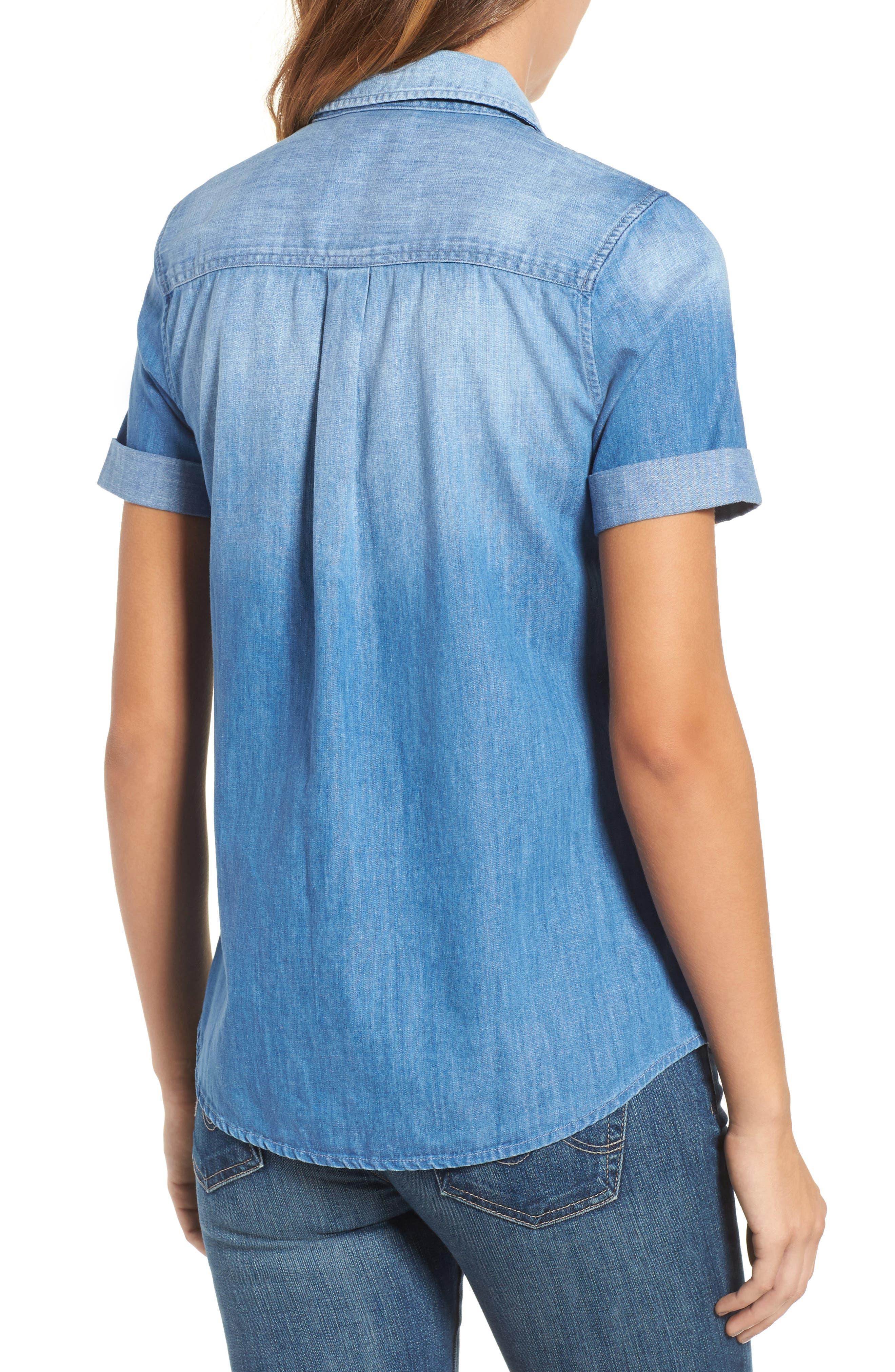 Easton Denim Shirt,                             Alternate thumbnail 2, color,                             TURBULENCE