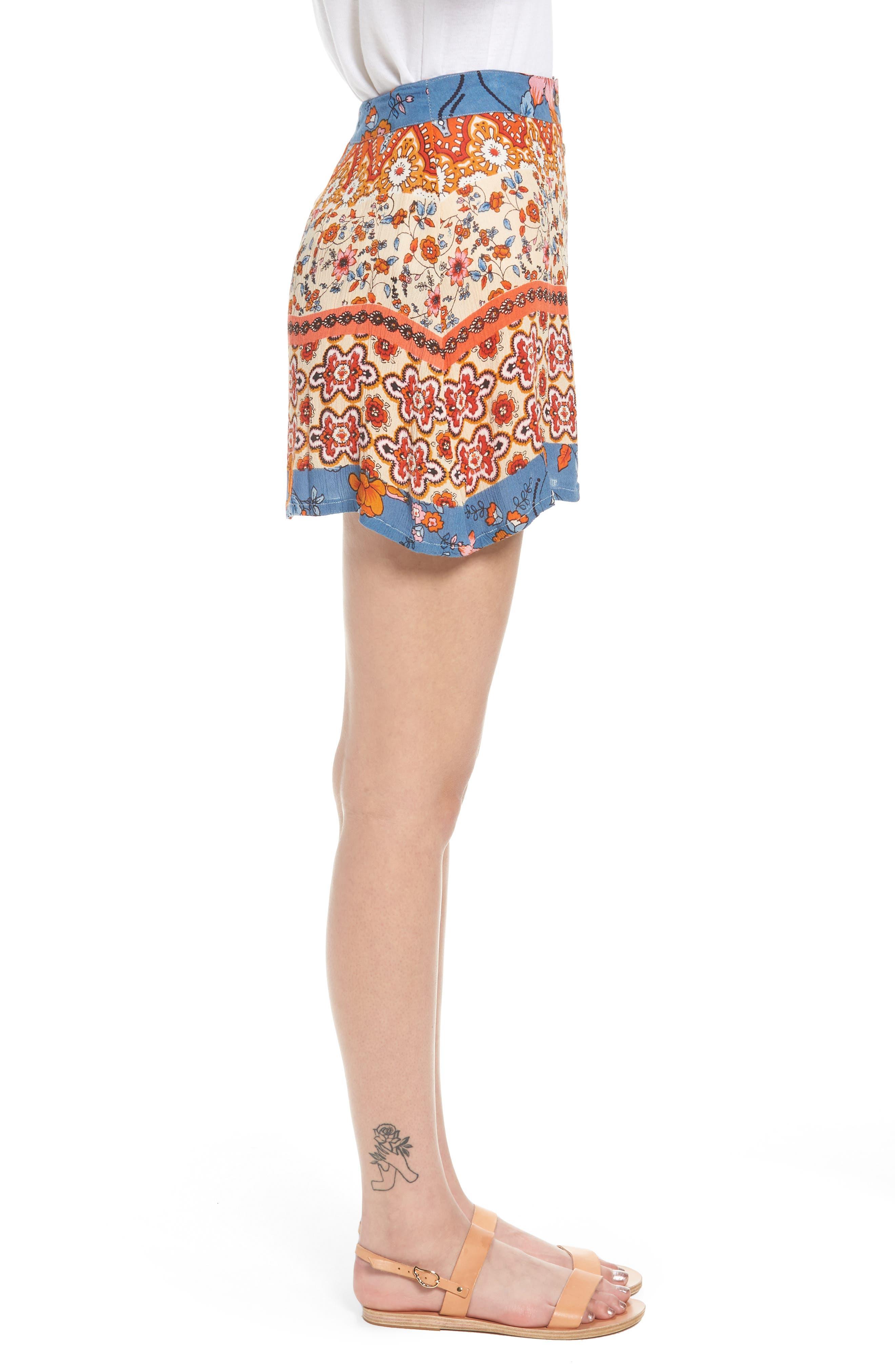 Sun Daze Mixed Print Skirt,                             Alternate thumbnail 3, color,