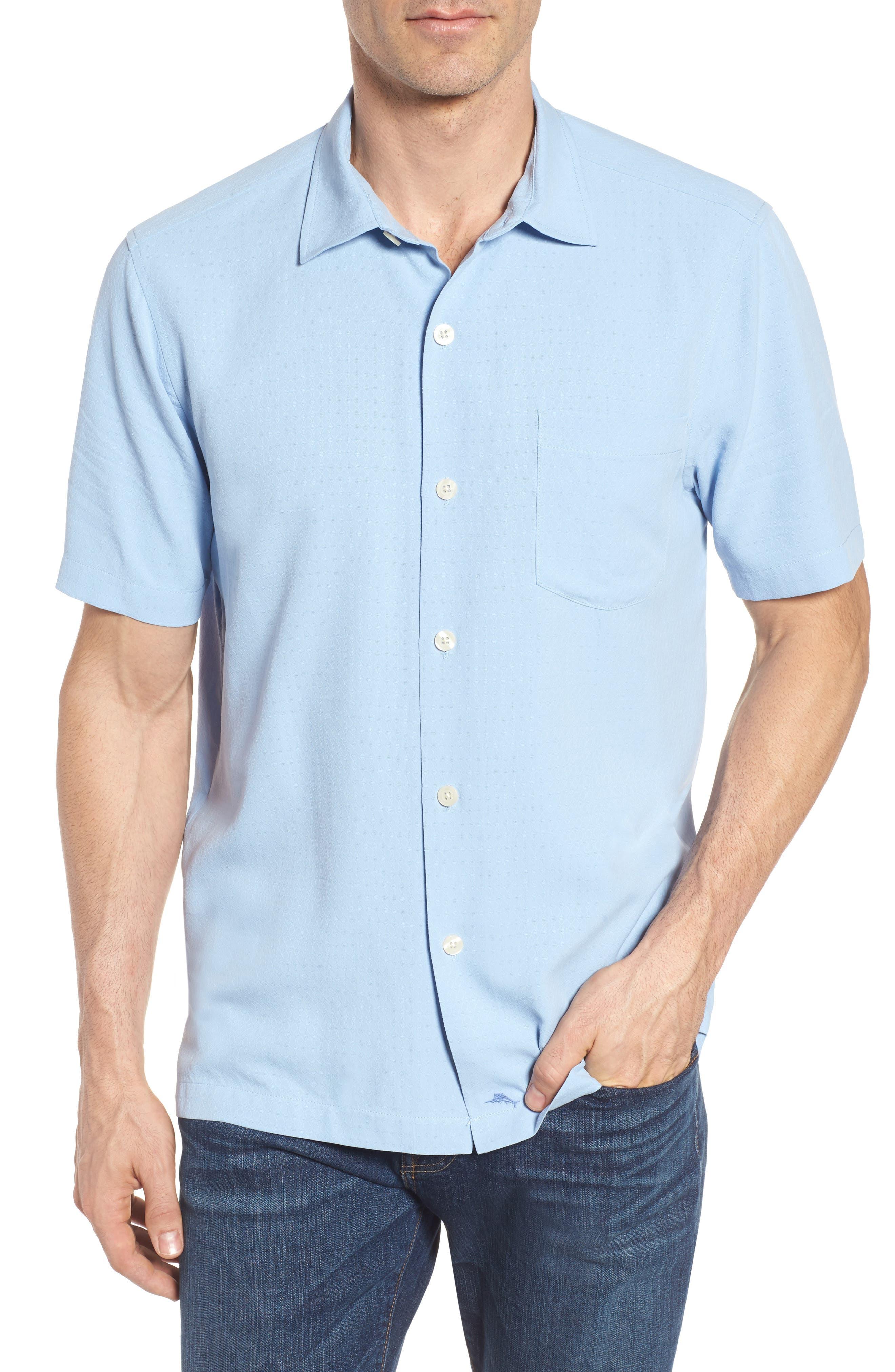 Oasis Jacquard Silk Sport Shirt,                         Main,                         color, 400
