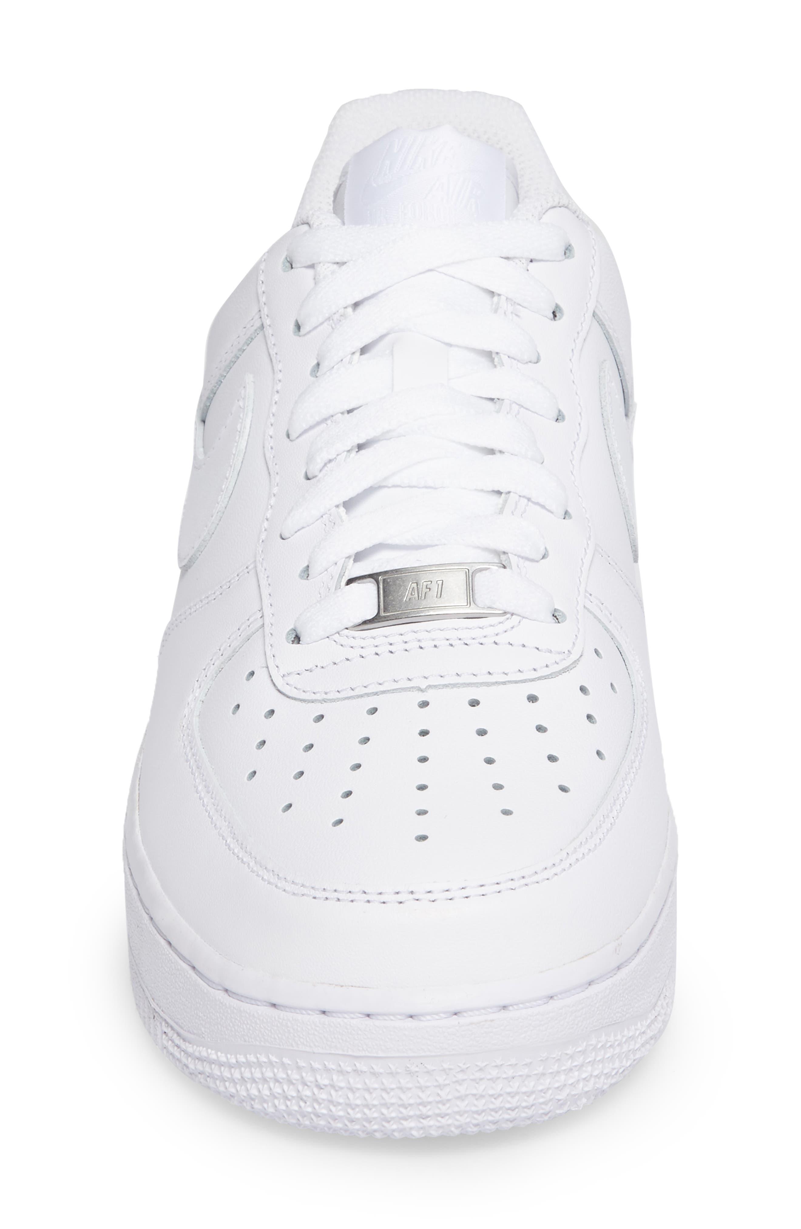 Air Force 1 '07 Sneaker,                             Alternate thumbnail 4, color,                             WHITE/ WHITE
