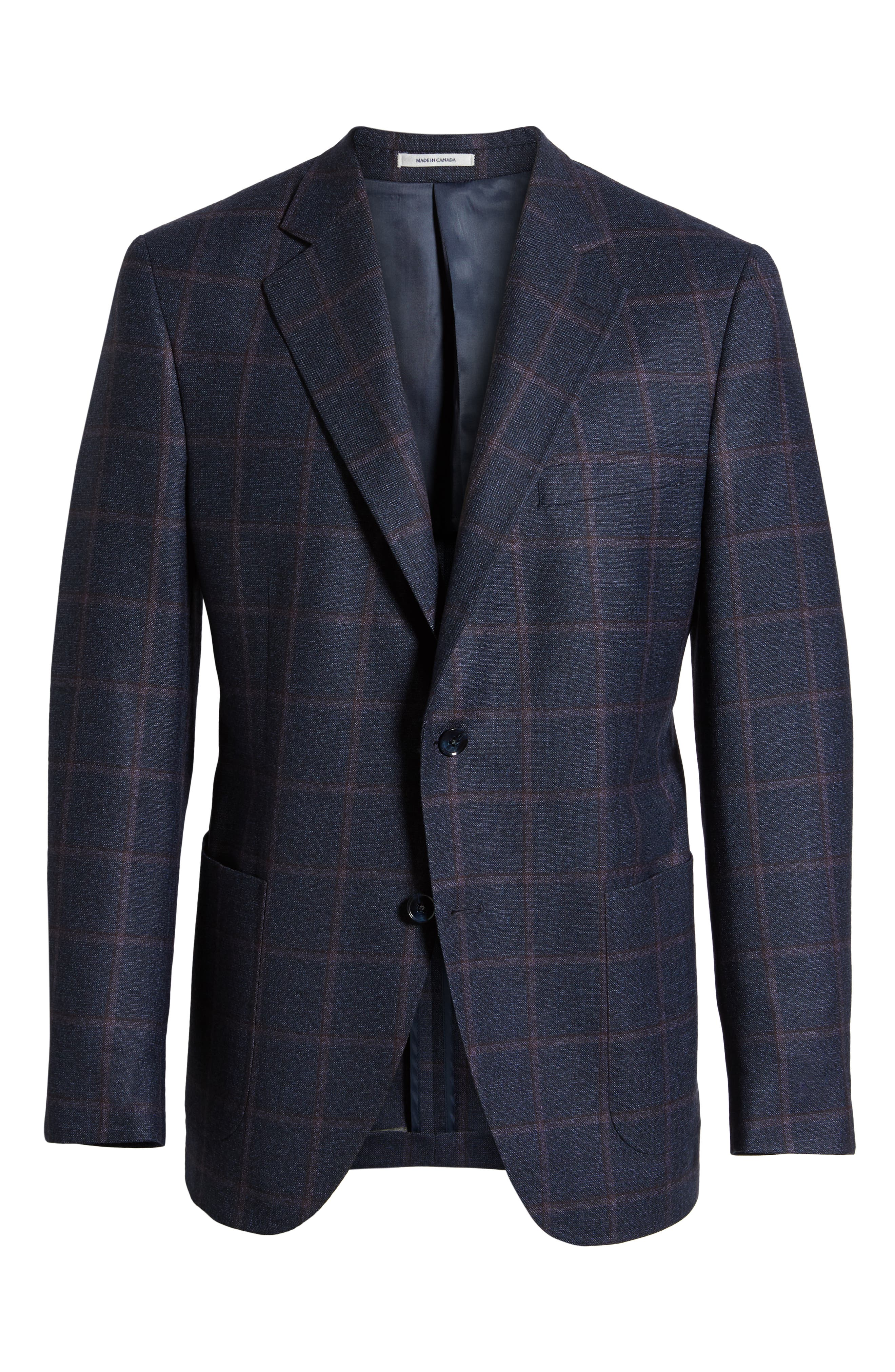PETER MILLAR,                             Hyperlight Classic Fit Wool Sport Coat,                             Alternate thumbnail 5, color,                             410