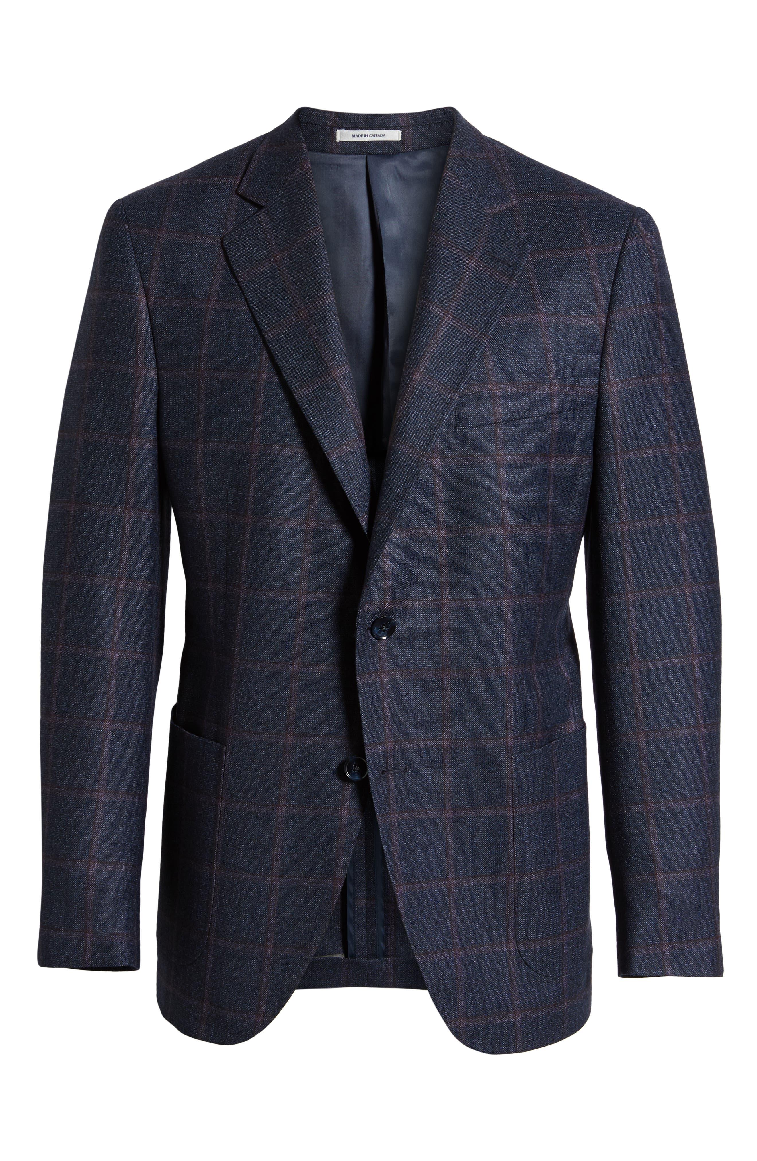 Hyperlight Classic Fit Wool Sport Coat,                             Alternate thumbnail 5, color,                             NAVY