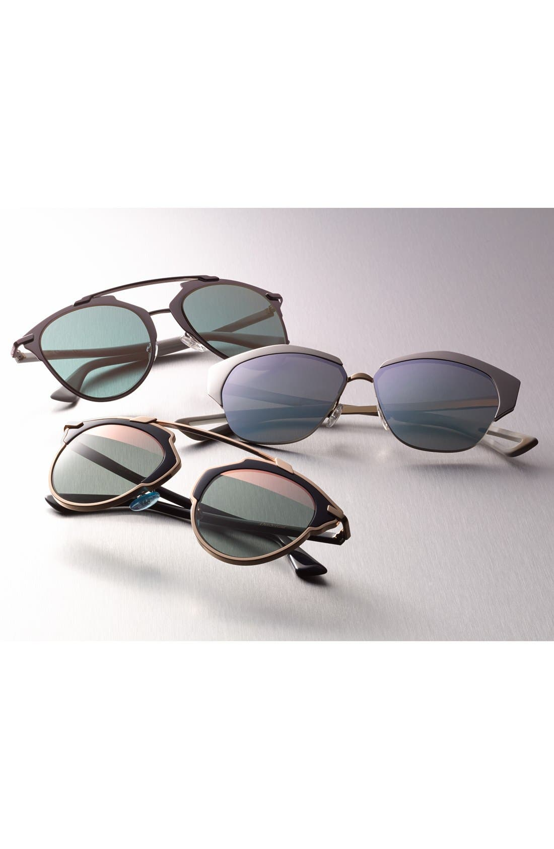 'Mirrors' 55mm Cat Eye Sunglasses,                             Alternate thumbnail 3, color,                             001