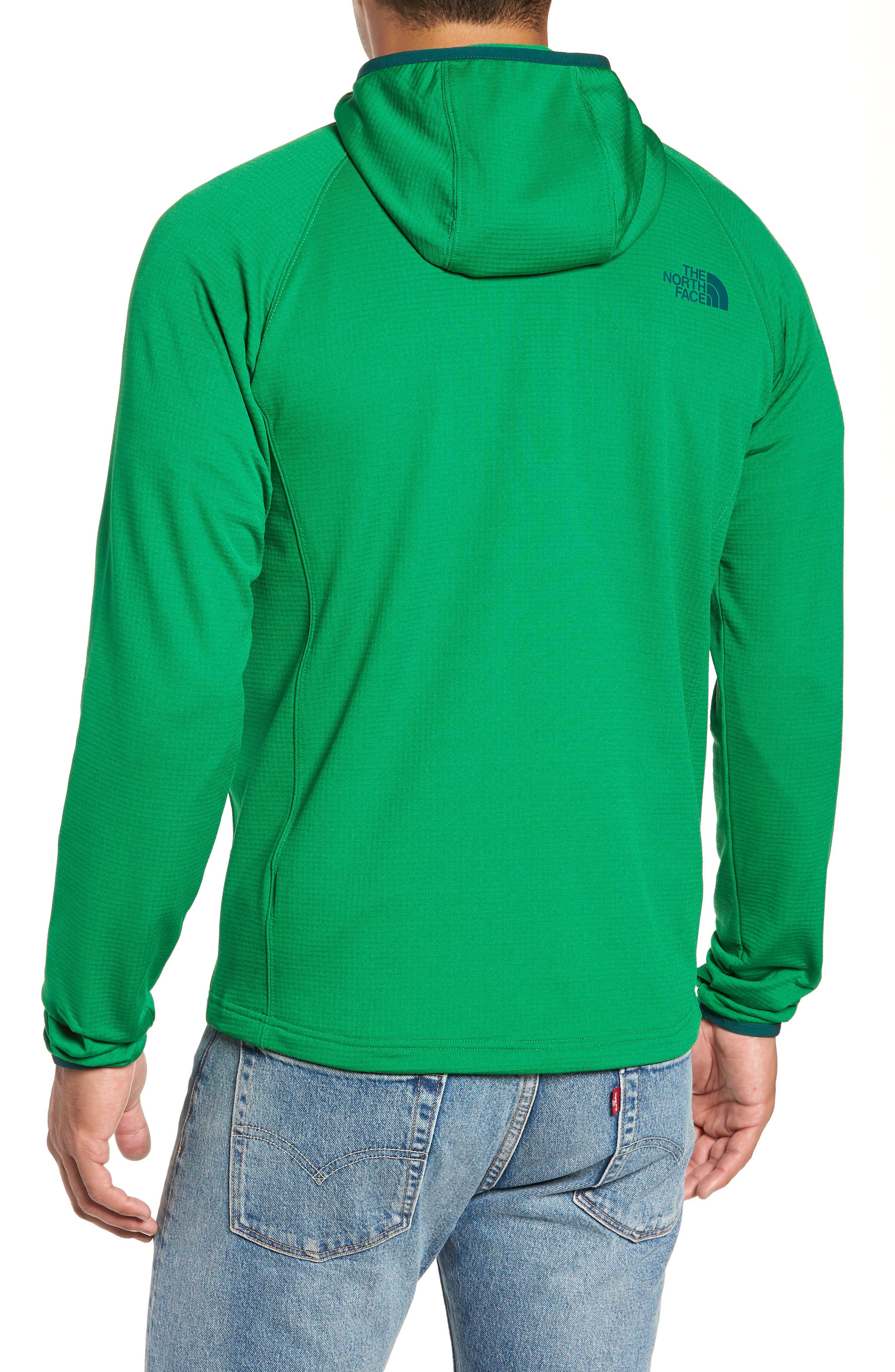 Borod Zip Fleece Jacket,                             Alternate thumbnail 2, color,                             PRIMARY GREEN/GARDEN GREEN