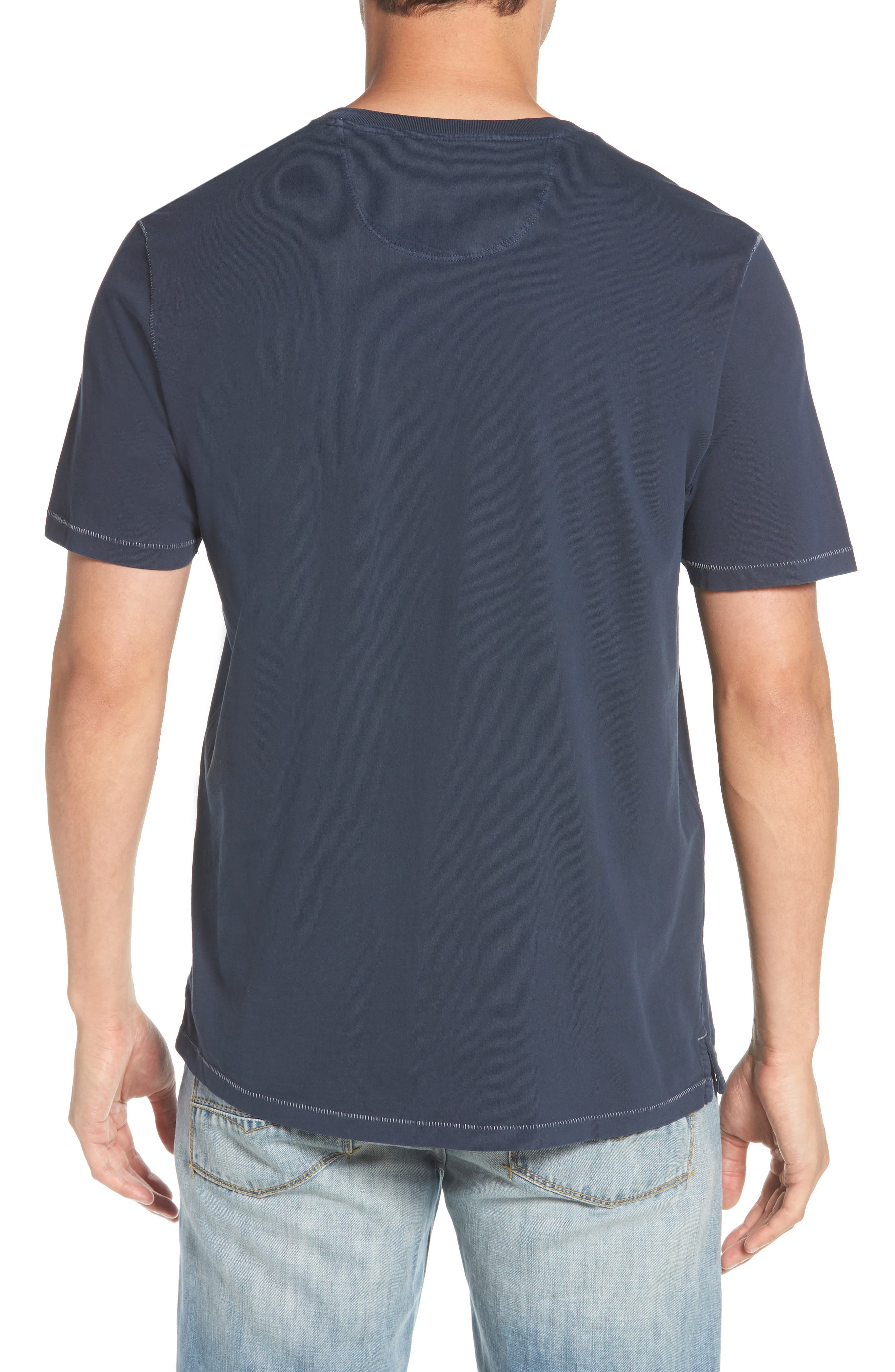 Beach Crewneck T-Shirt,                             Alternate thumbnail 2, color,                             BLUE NOTE