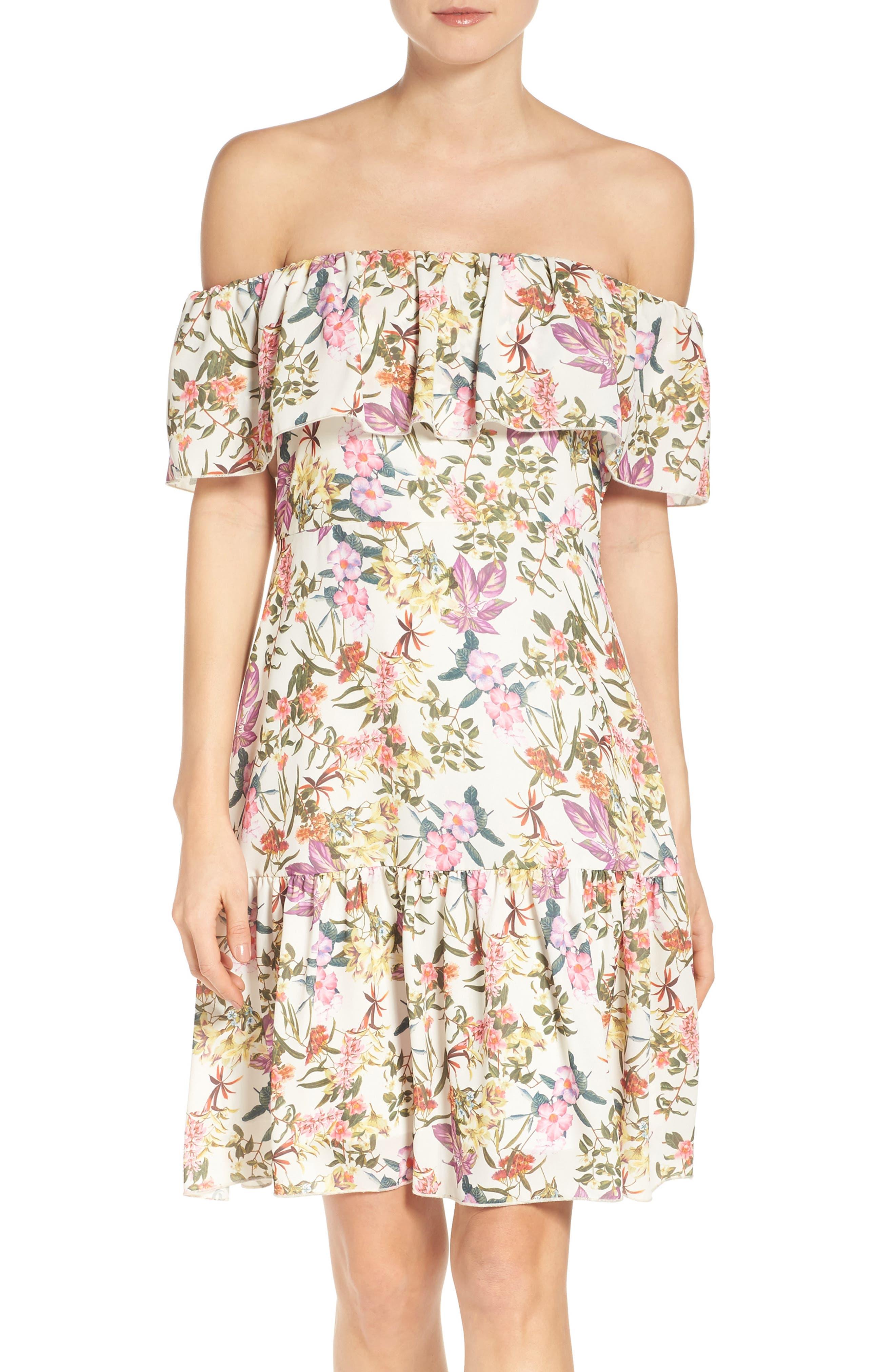 Ruffle Dress,                             Alternate thumbnail 5, color,                             001