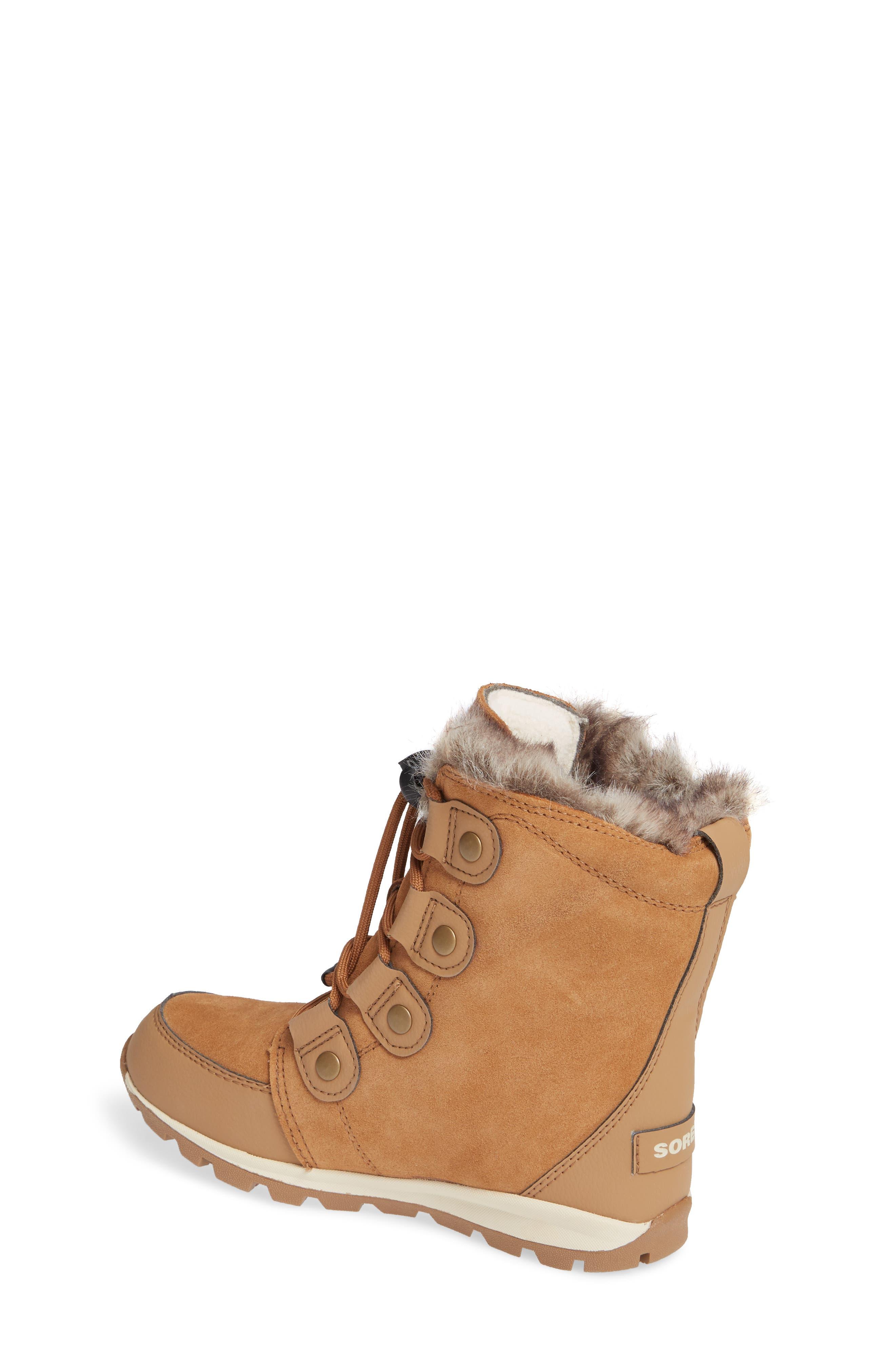 Whitney Suede Waterproof Faux Fur Boot,                             Alternate thumbnail 2, color,                             ELK/ NATURAL